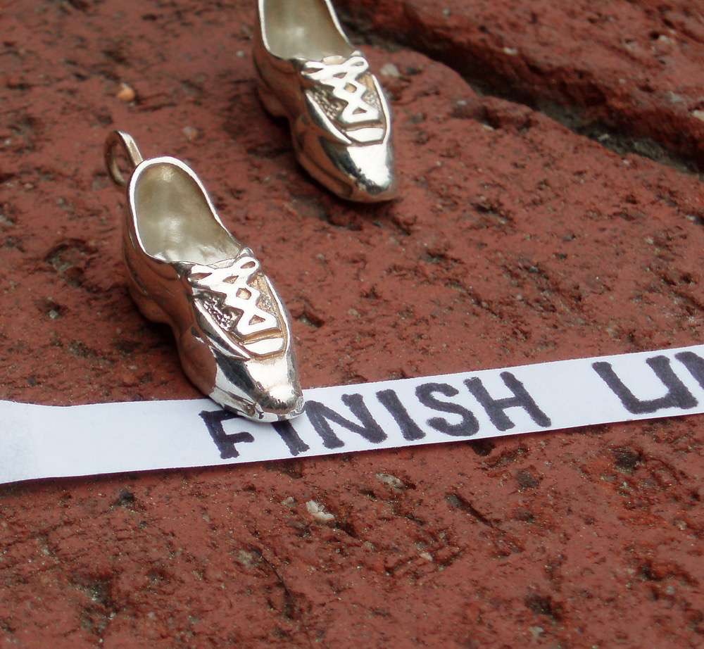 When running around town, try one of our shoes on__SS_running_shoe_charm_davids 2.jpg