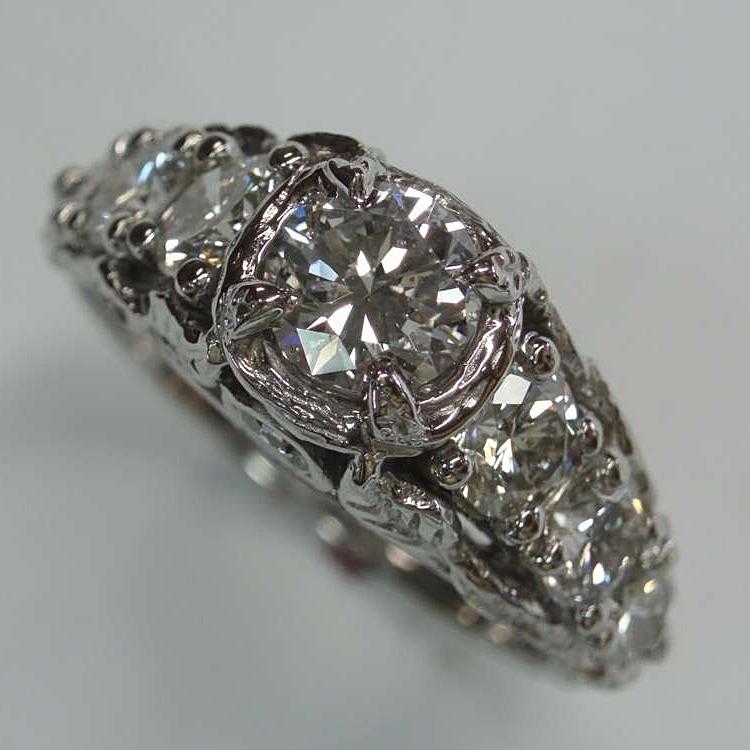 vintage inspired garden ring, diamonds set in 14kwg 2.jpg