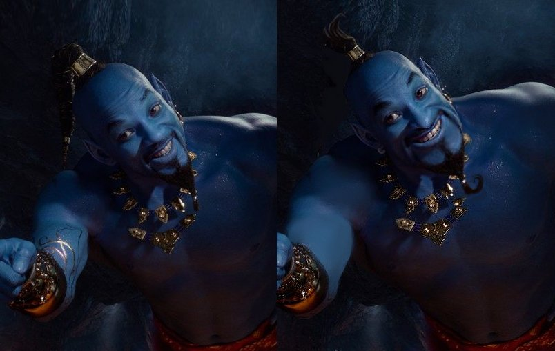 A fan-made edit to Smith's appearance as Genie.