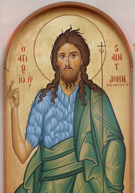 """St John the Baptist (""""Forerunner"""") on the icon wall"""