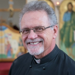 Father Lou Christopulos  leads the Men's Fellowship group and our weekly Spiritual Discussions