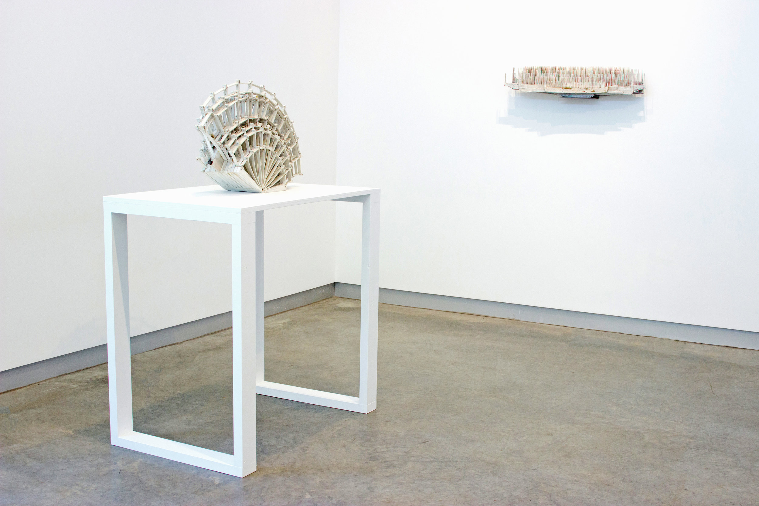 untitled fan  and  seven combs  (installation view), 2018