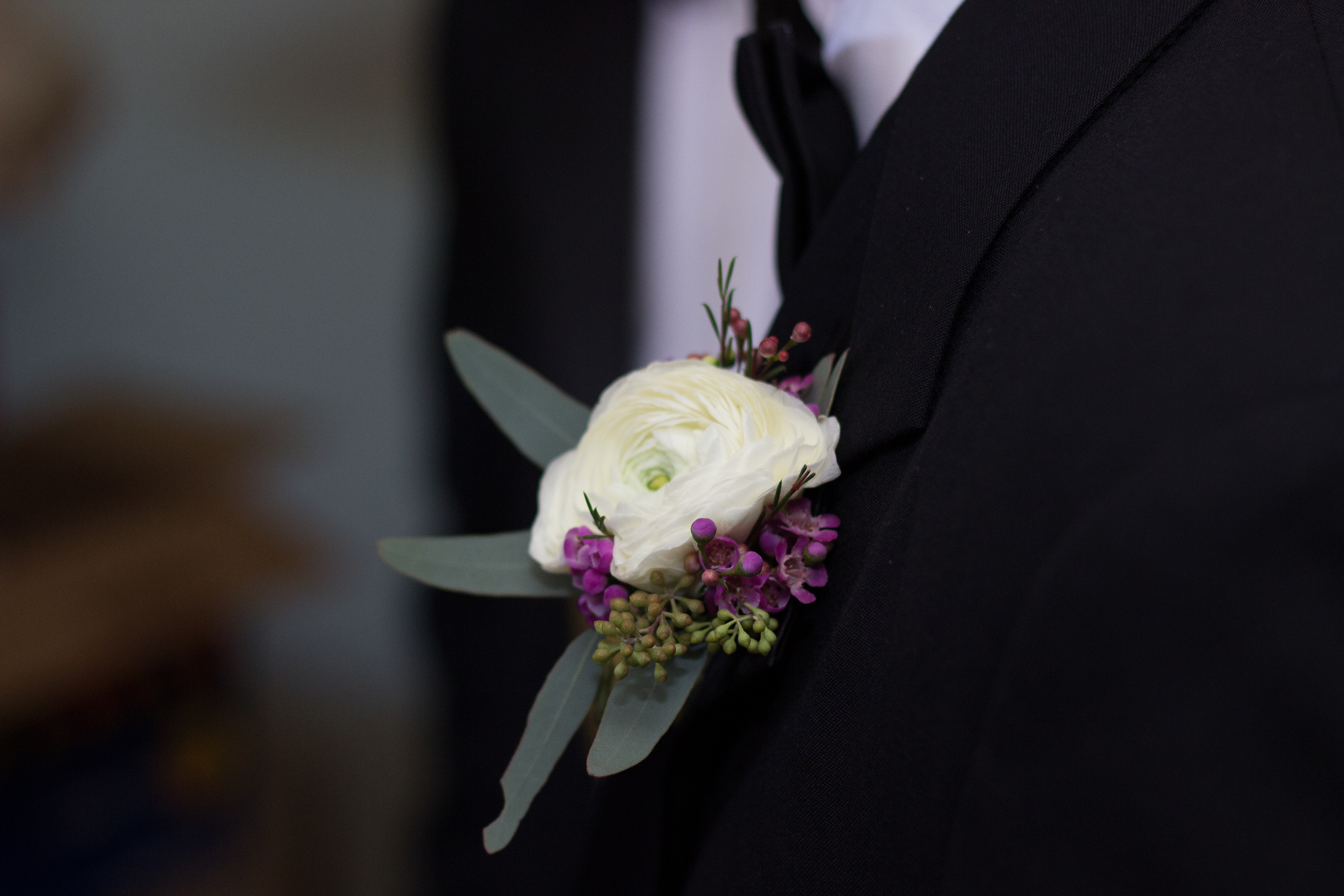 Traditional Wedding Boutonniere detail at Ponte Vedra Inn, Ponte Vedra Beach Florida wedding