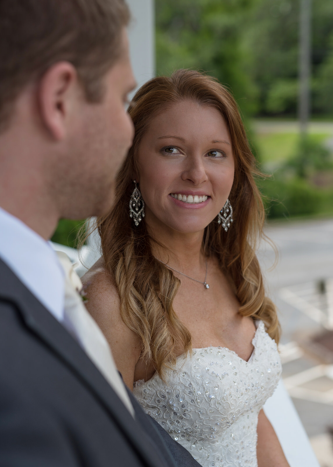 Kennesaw GA, Happy bride and groom on wedding day