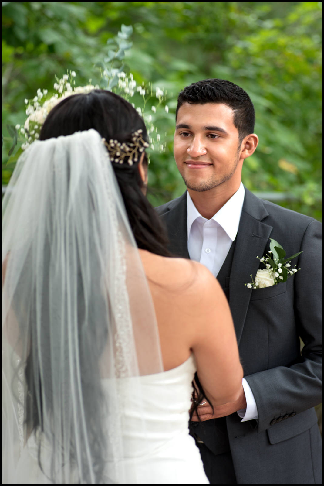 Emotional Groom at the Alter