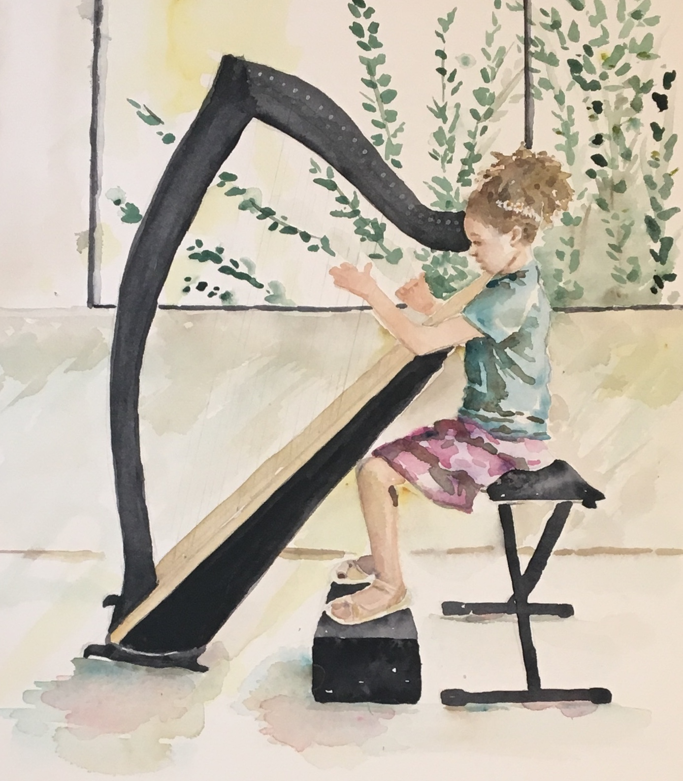 A recent commission called Ellee's Harp.