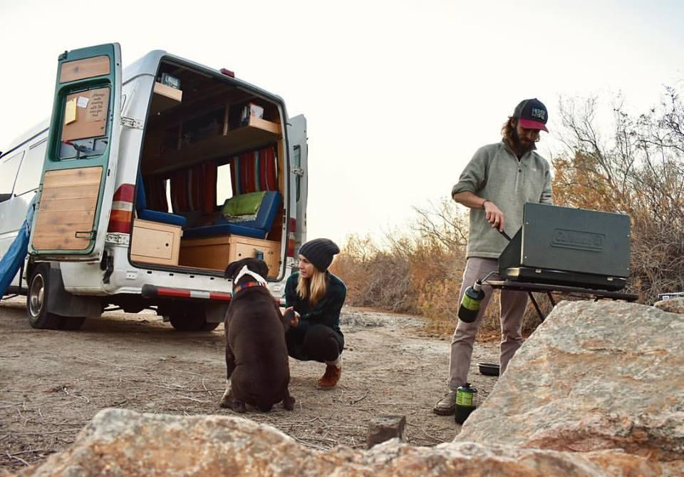 Hiking, camping, and cooking outdoors in Yuma, AZ. Vanlife explorers.