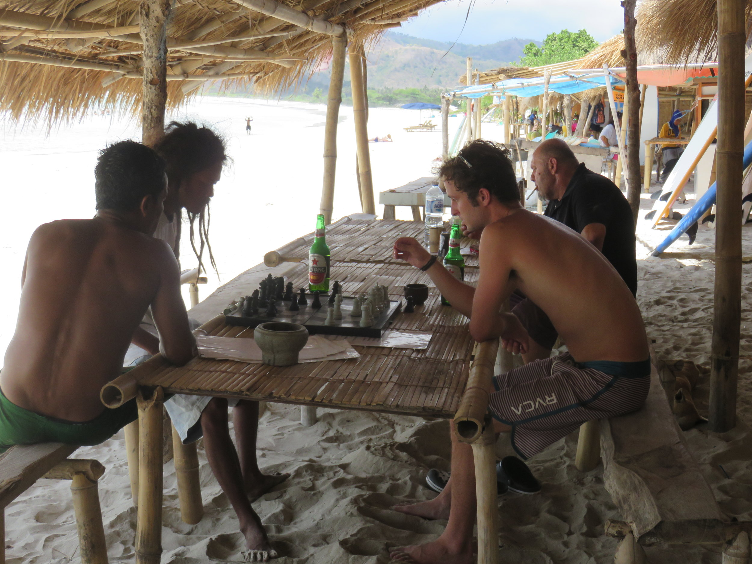 Being hustled by locals in Lombok.