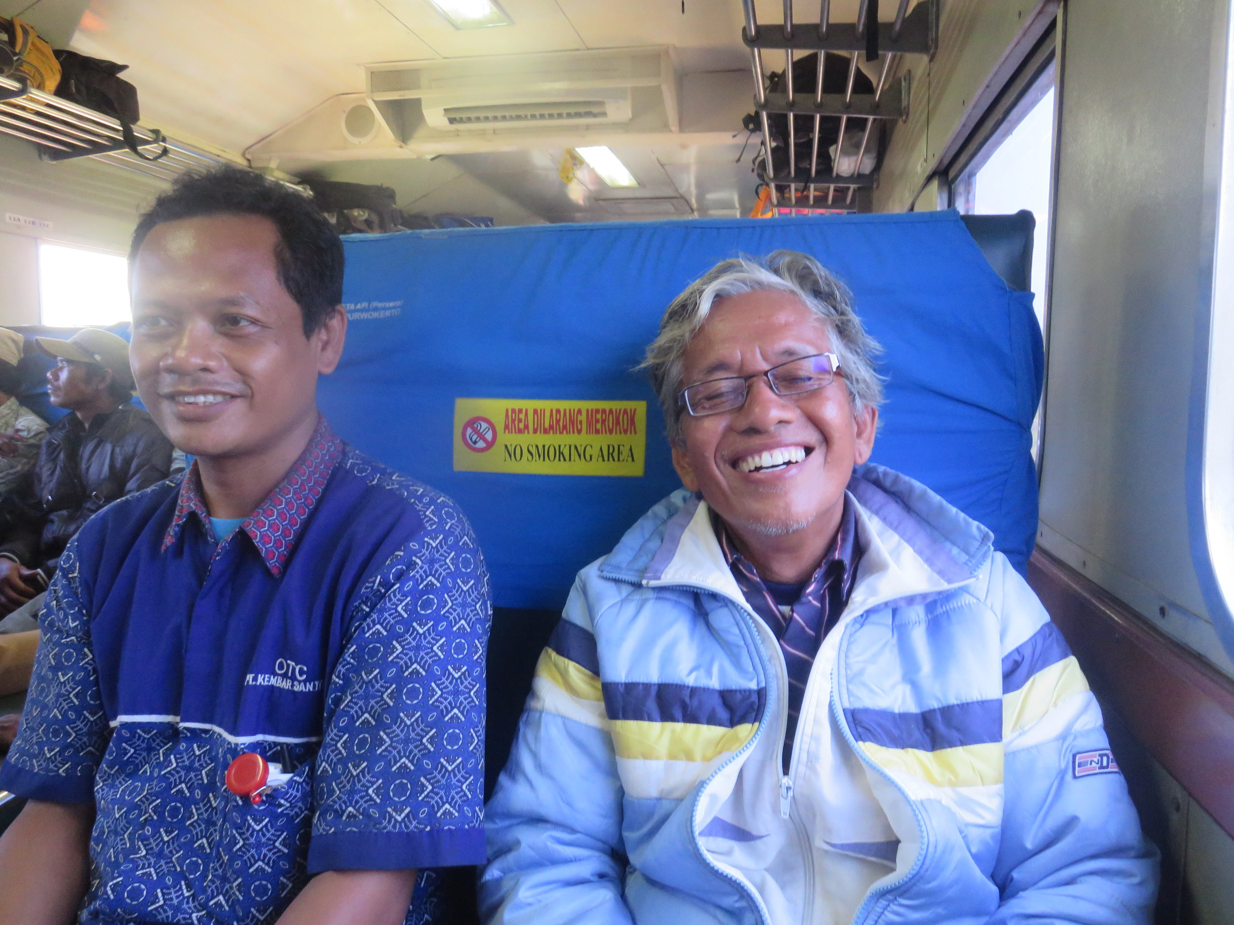 Rinto and Sujati didn't know much English, but we managed to talk and laugh the whole three hours we rode the train together.