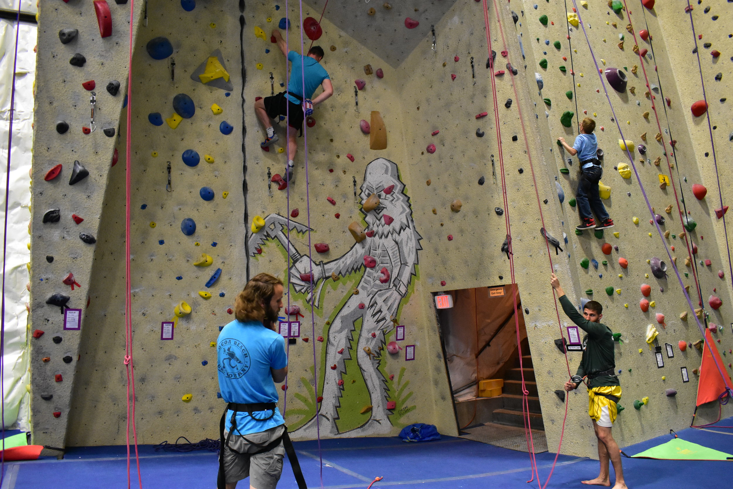 Our first time indoor climbing - Colorado Springs