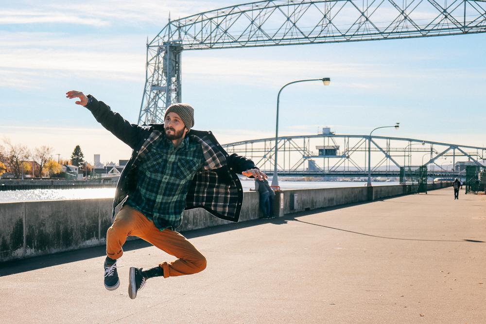 Draw bridge in Duluth, MN