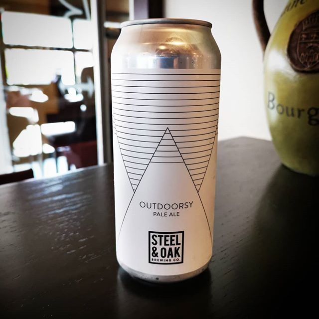 We have @steelandoak Outdoorsy Pale Ale available by the can now!