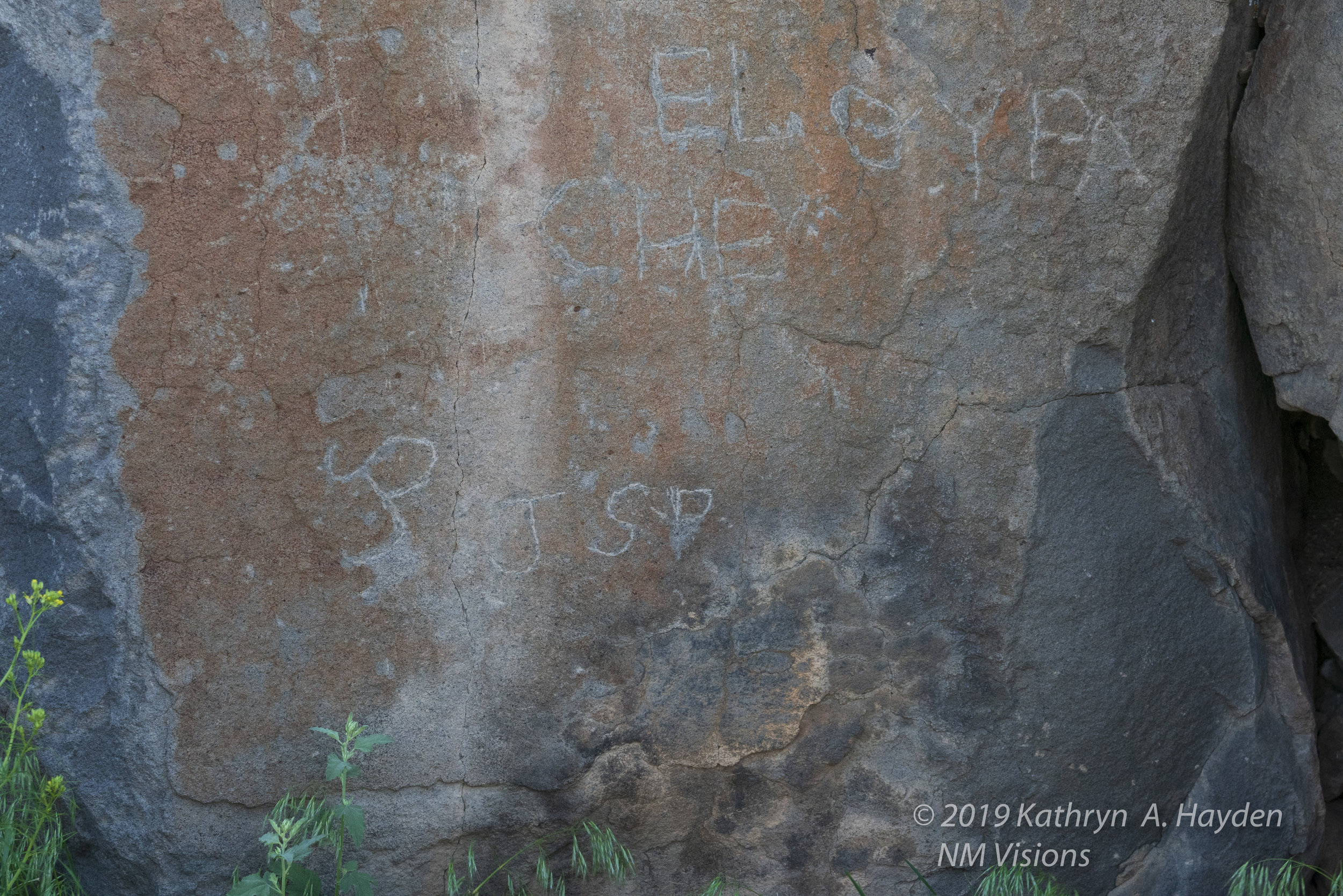 Robert explained that the markings on the rocks were often a combination of petroglyphs that were followed by shepherds that worked in the area.