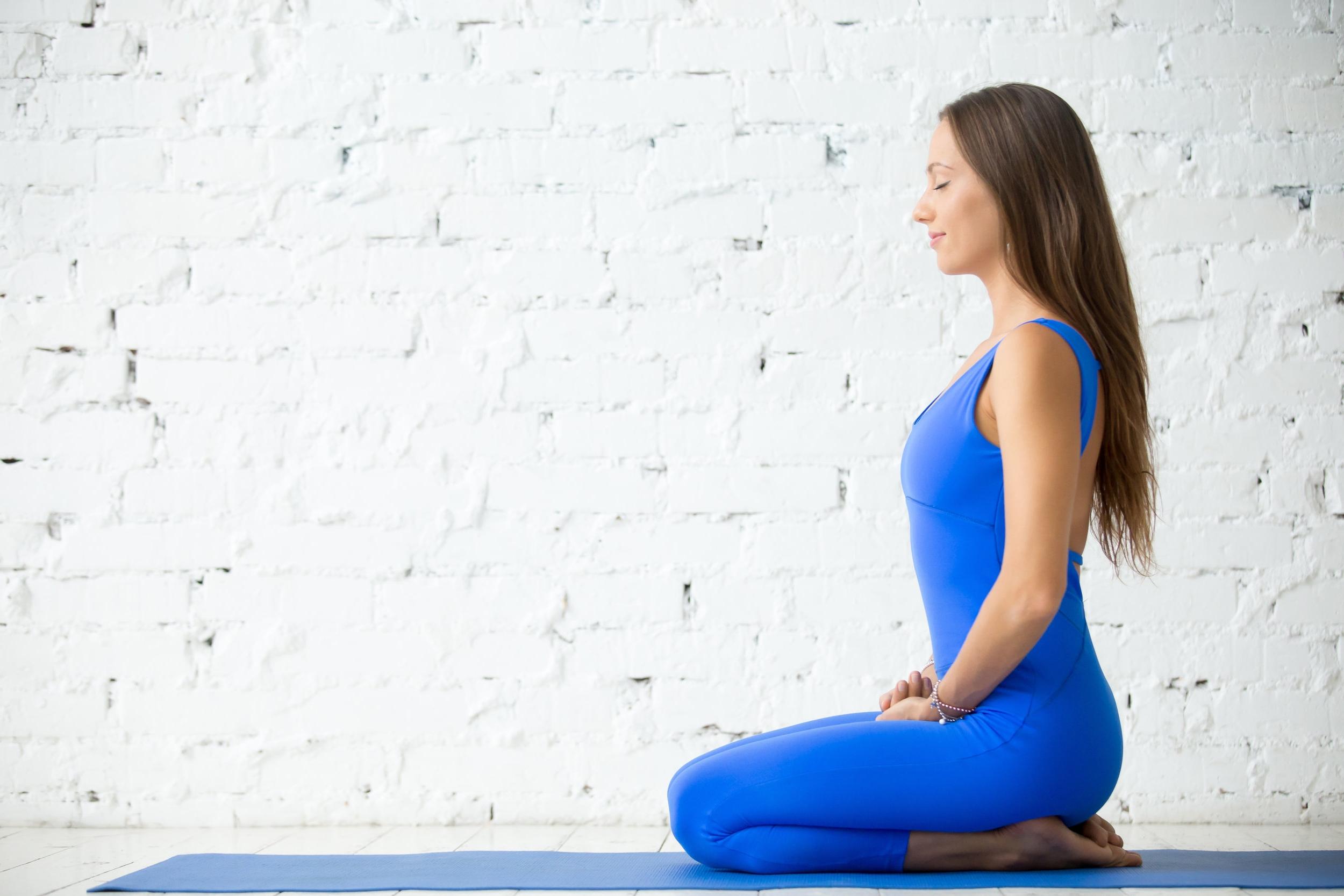 Meditation in seiza position