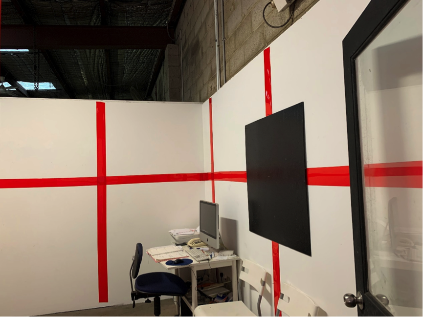 Office Project Space:  Red Line at Fifteen Hundred  (wall weaving work)