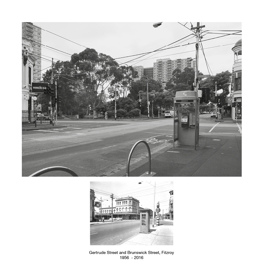 Brunswick Street Fitzroy 1956 - 2016
