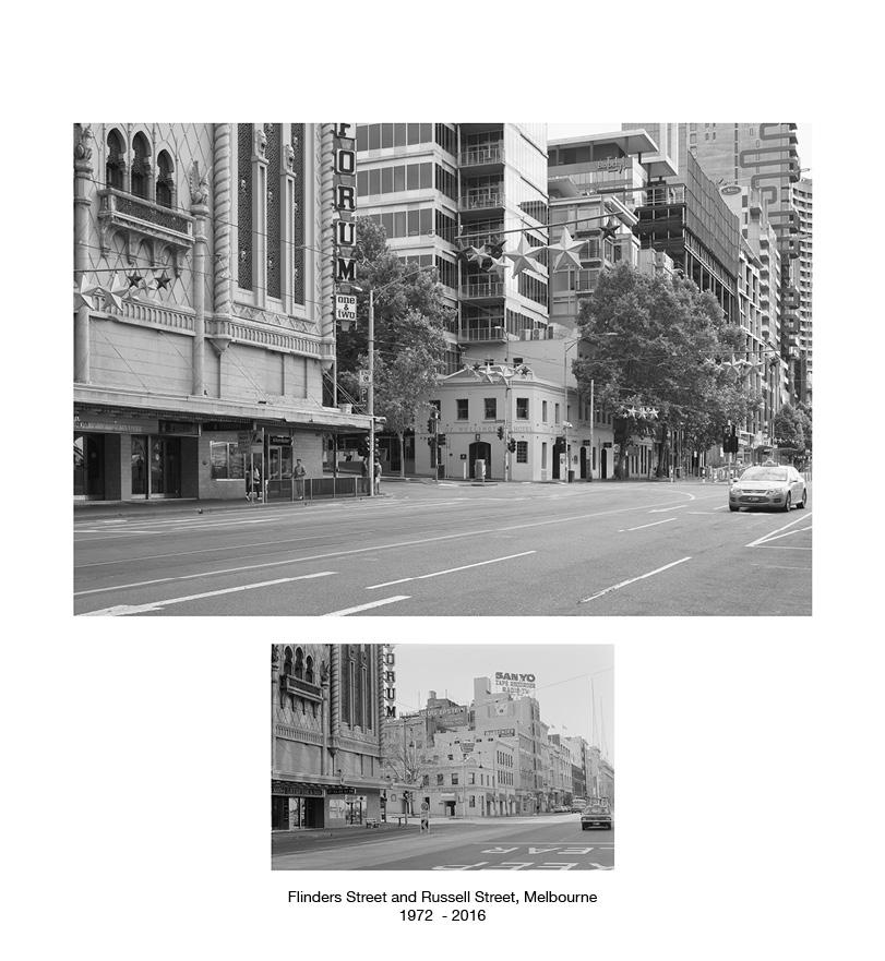 Flinders Street near Russell Street 1972 - 2016.jpg