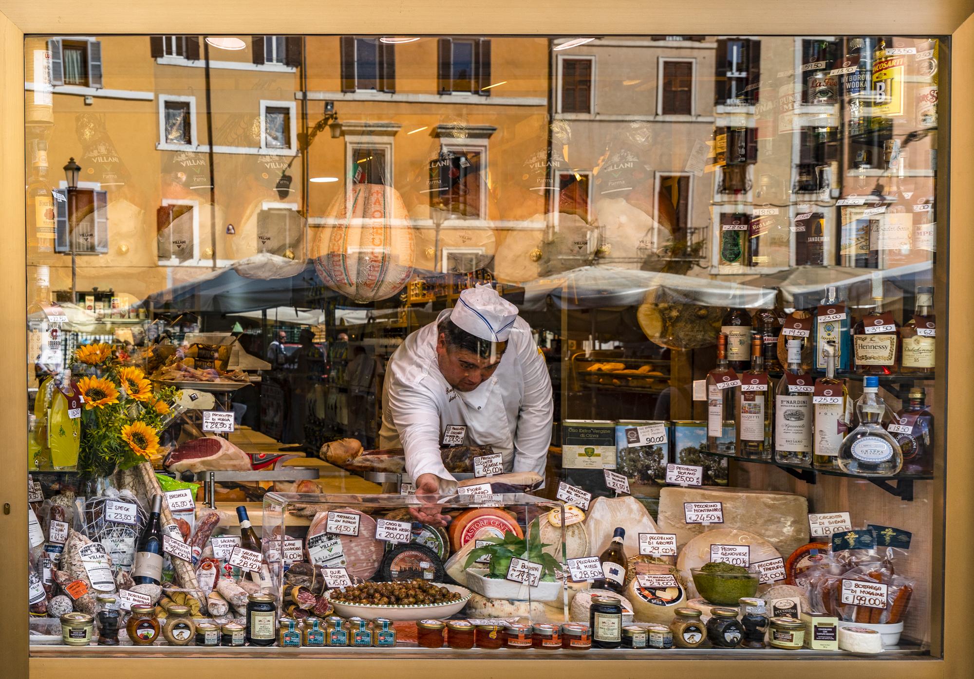 Delicatessen window, Rome