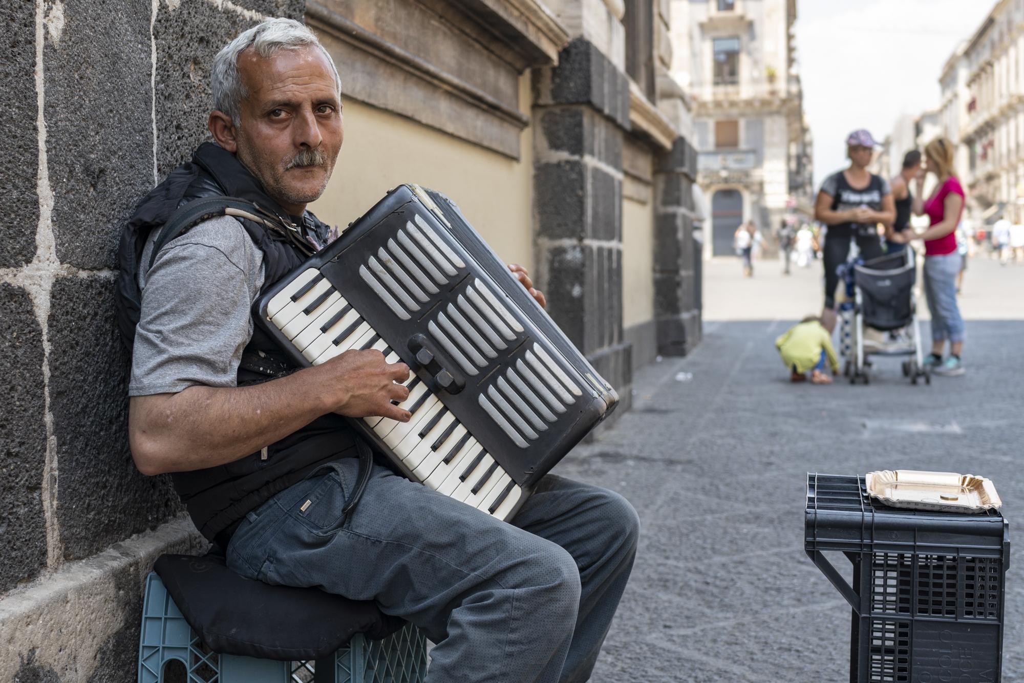 Accordion player, Catania
