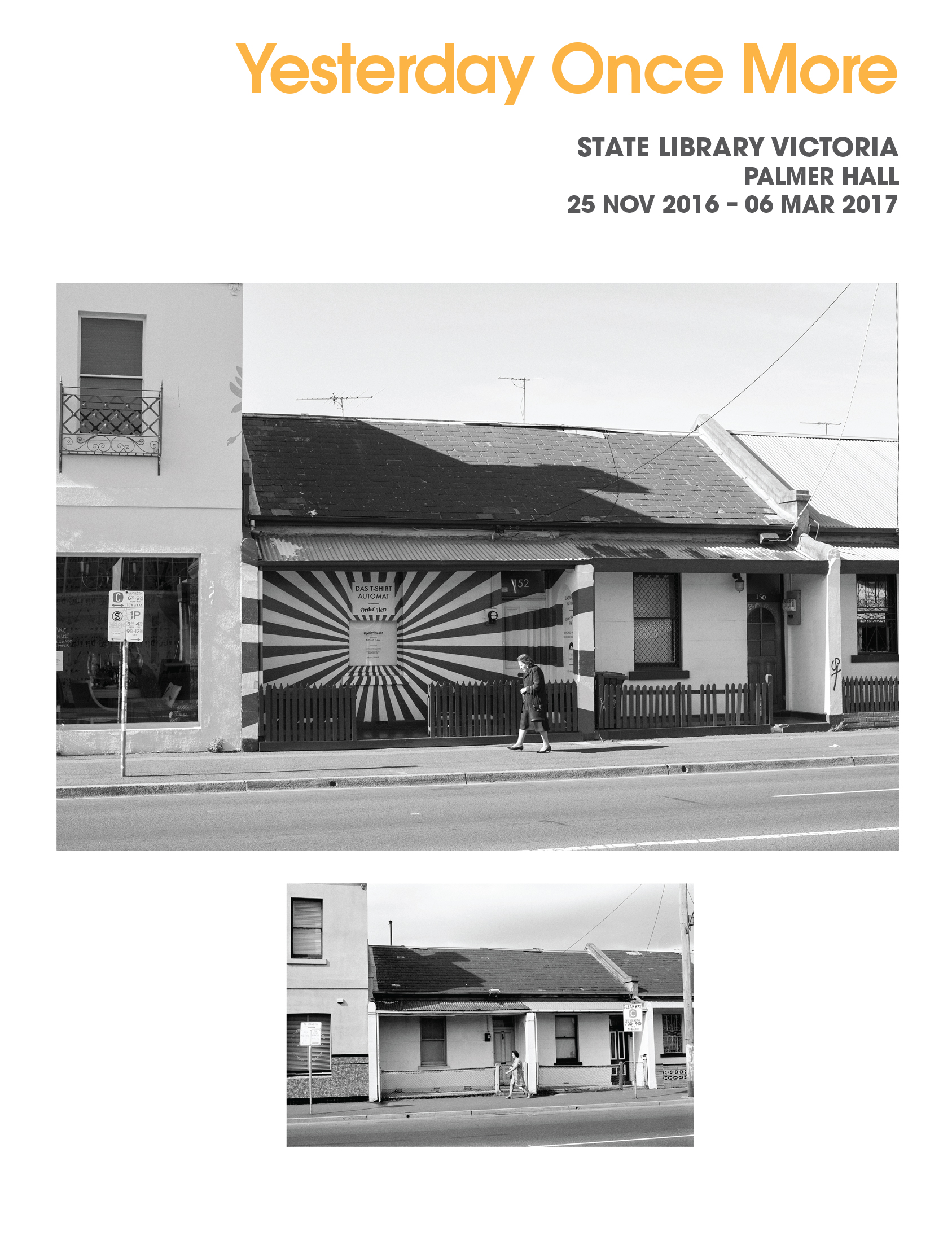 Brochure cover for exhibition, State Library Victoria.