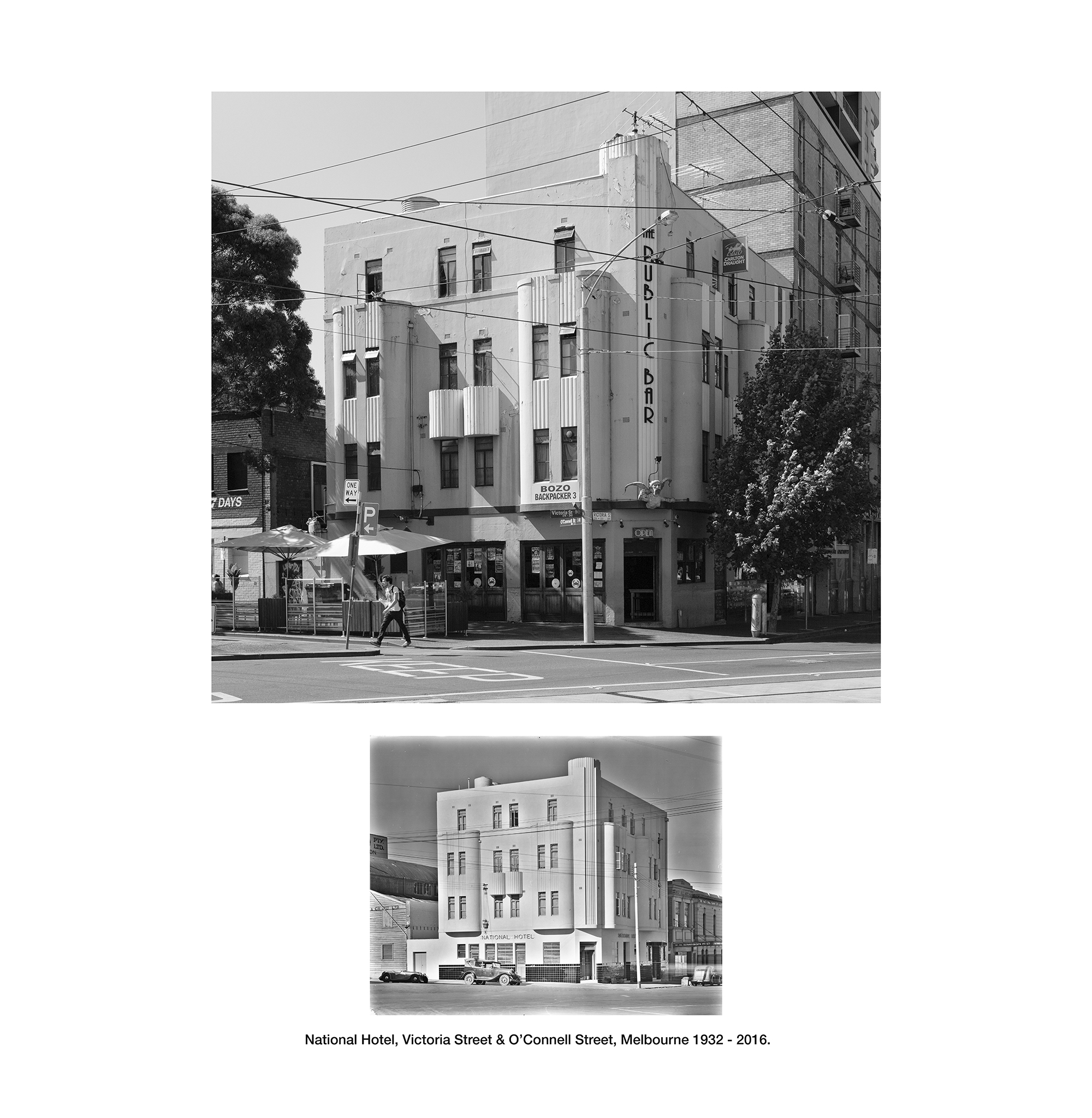 National Hotel, Victoria Street and O'Connell Street Melbourne 1932-2015