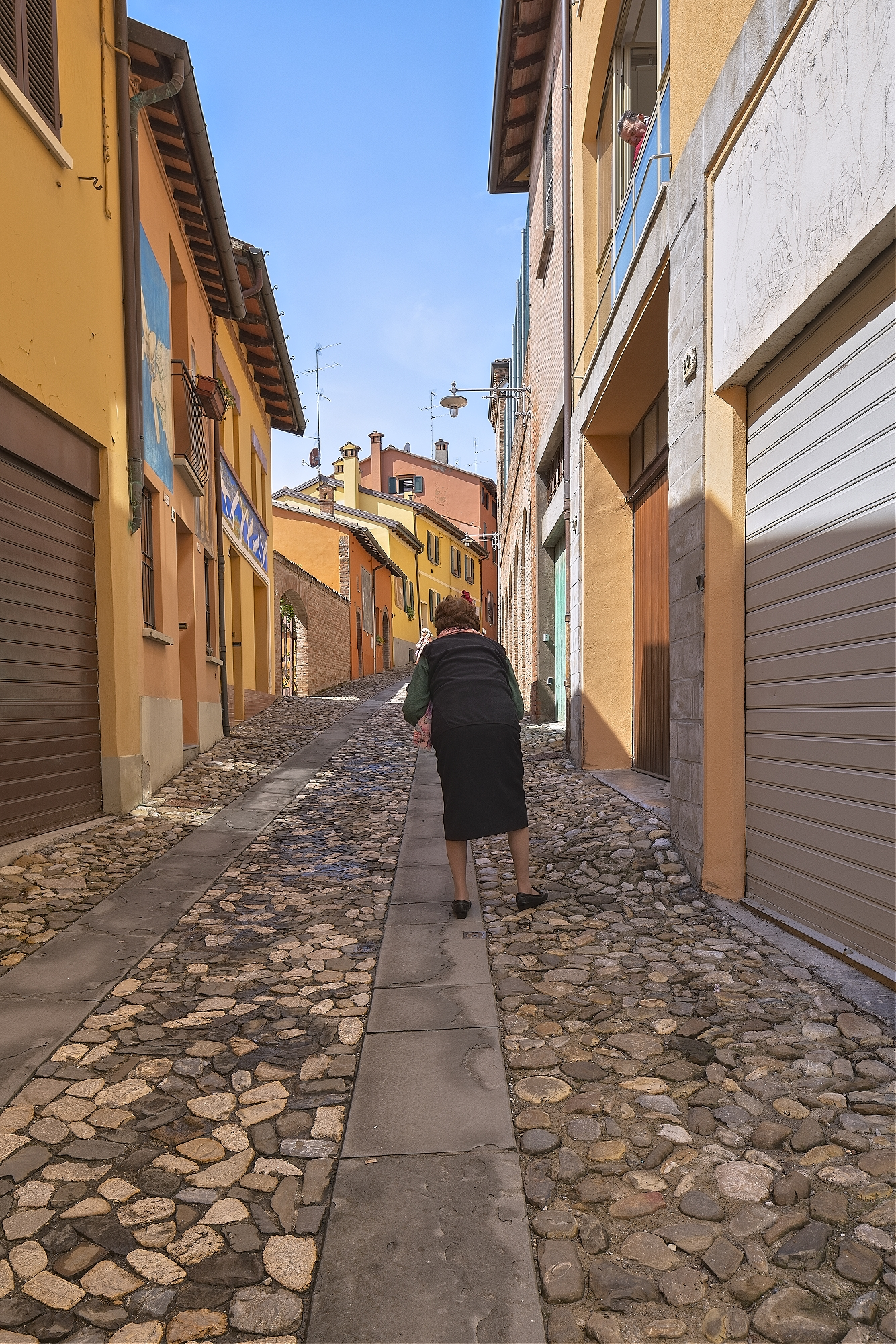 Old Lady Walking in Dozza
