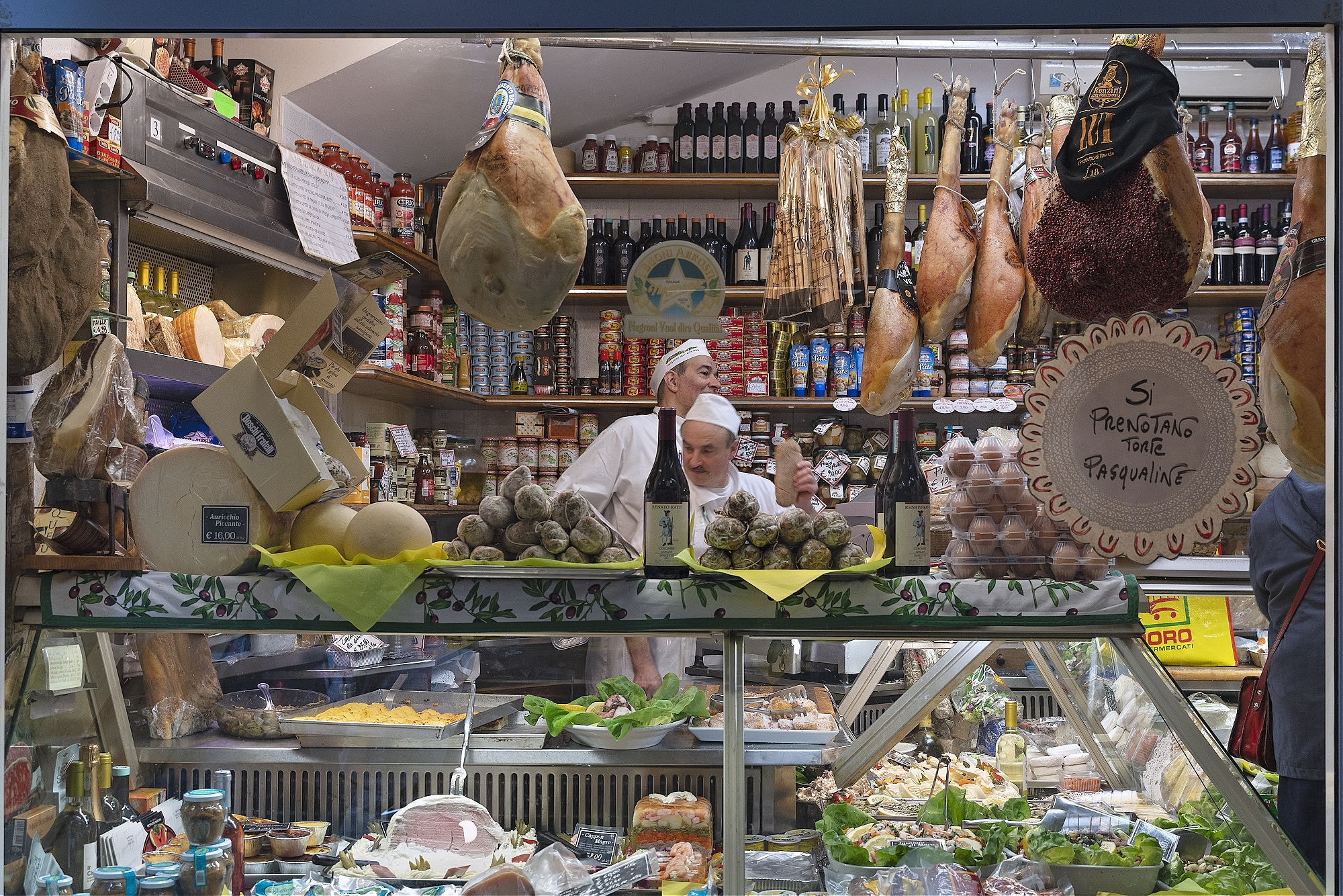 Delicatessen window, Rome