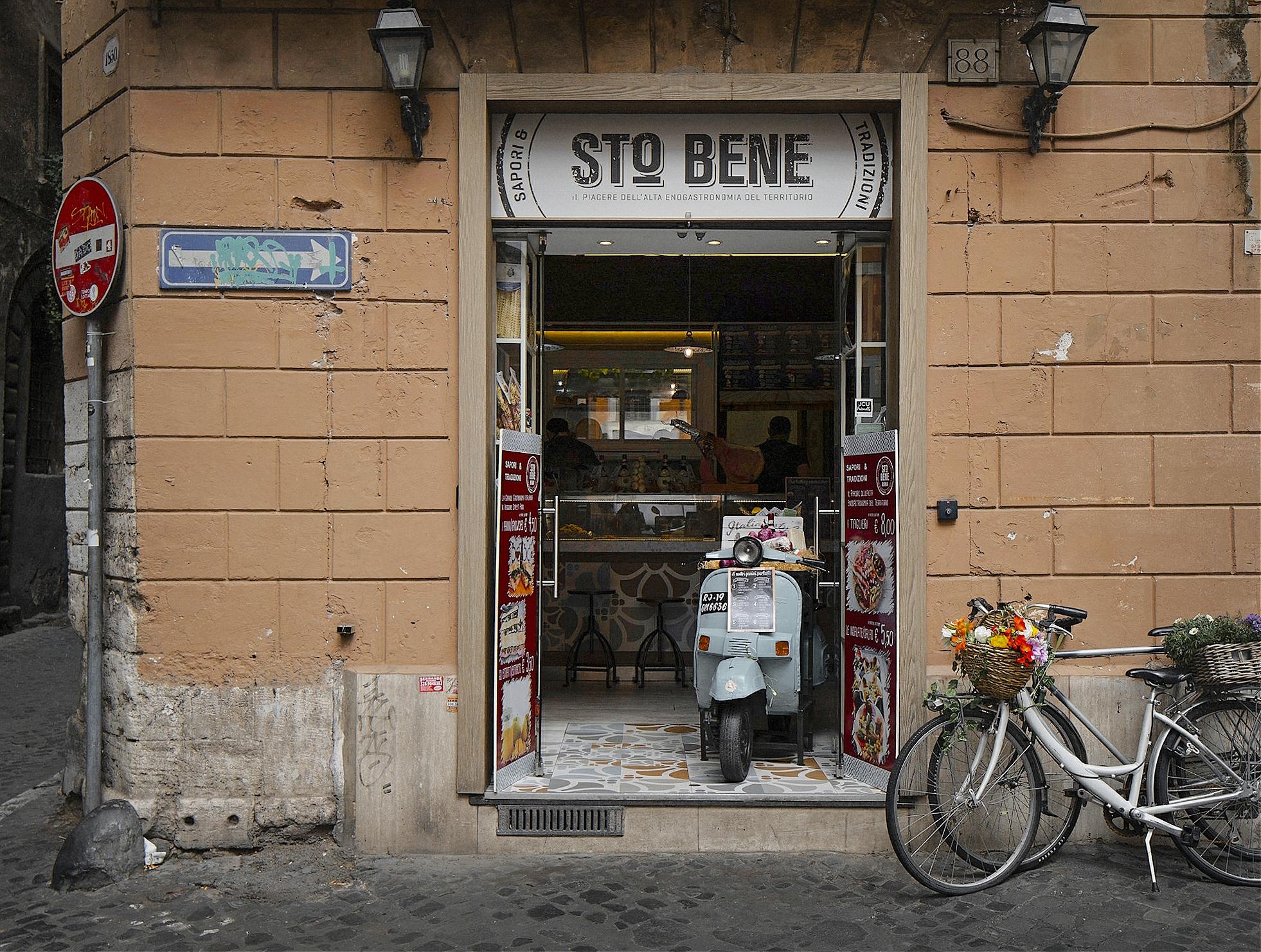 Sto Bene (Sandwich shop) near Campo dei Fiori, Rome