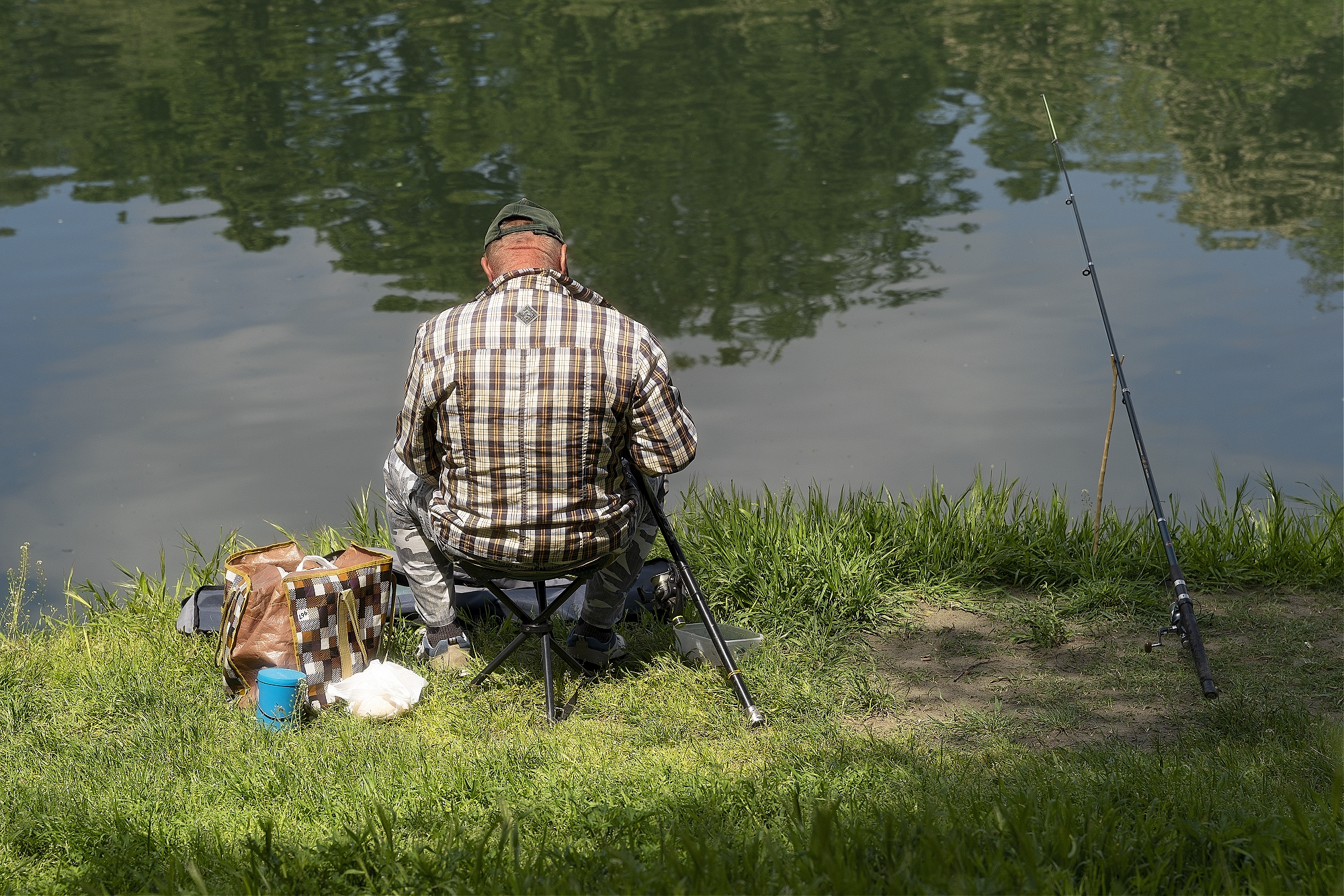 Fisherman, River Po, Turin