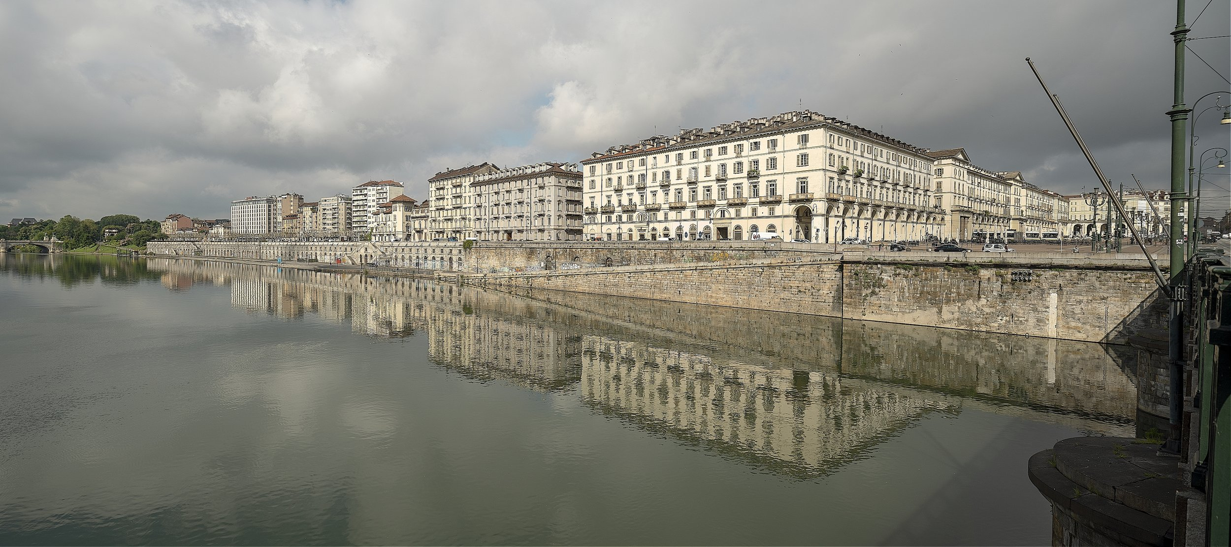 Panorama of the river Po, Turin