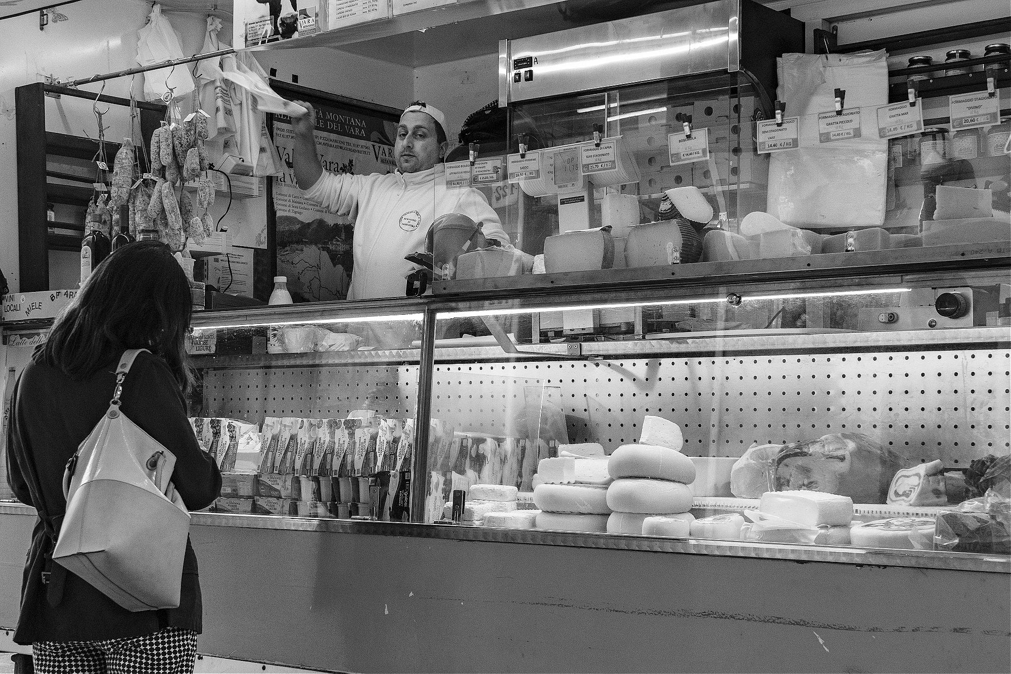 Formaggio seller, Camogli, Liguria