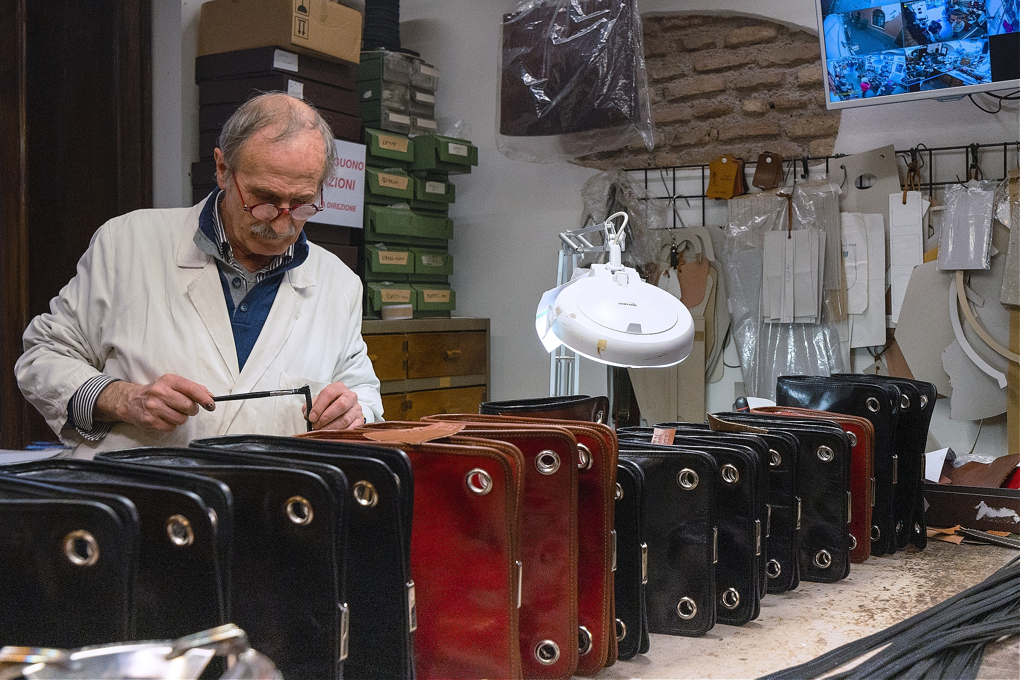 Aldo, Leather Craftsman, Rome