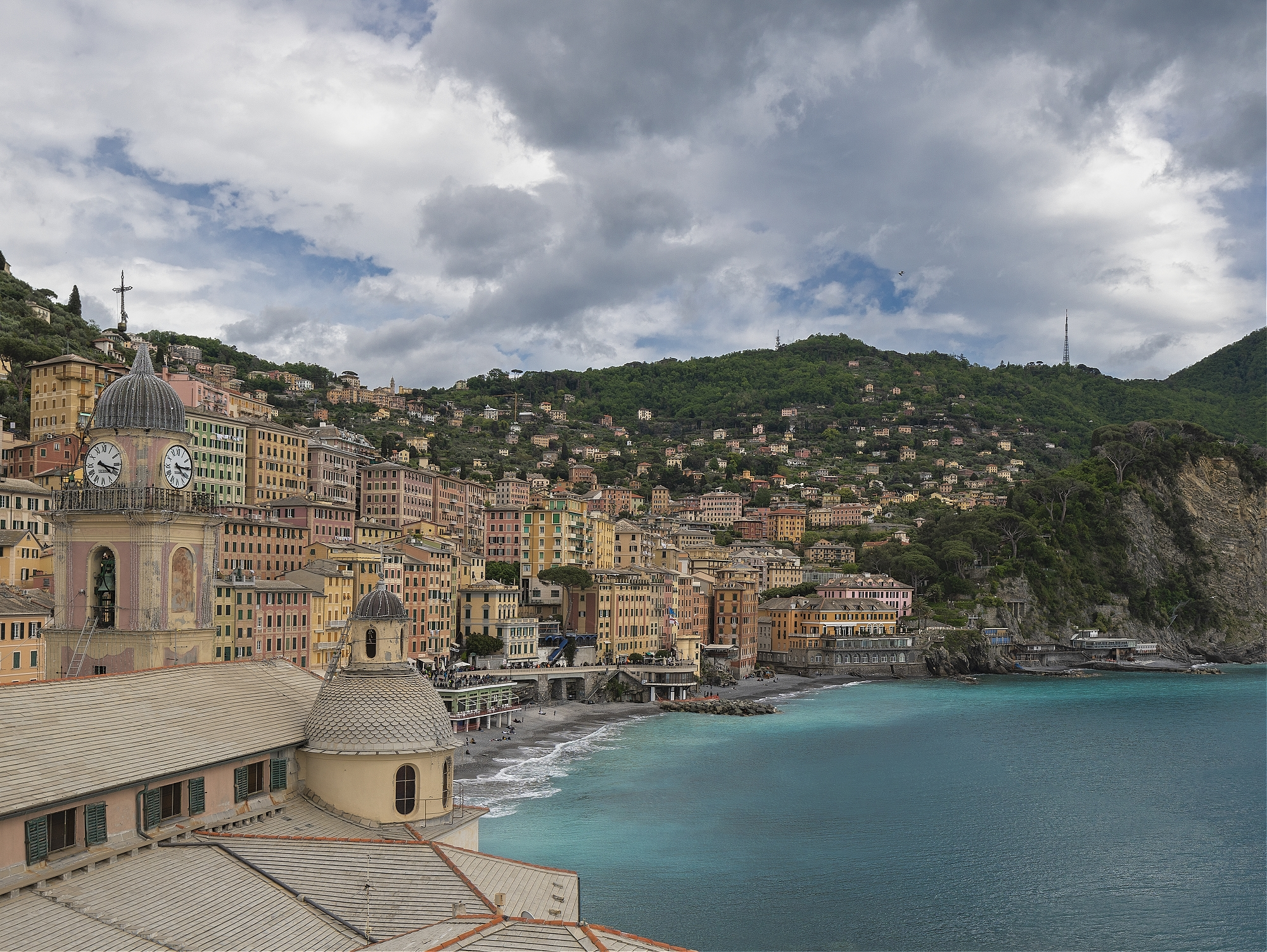 A panoramic view of Camogli, Liguria