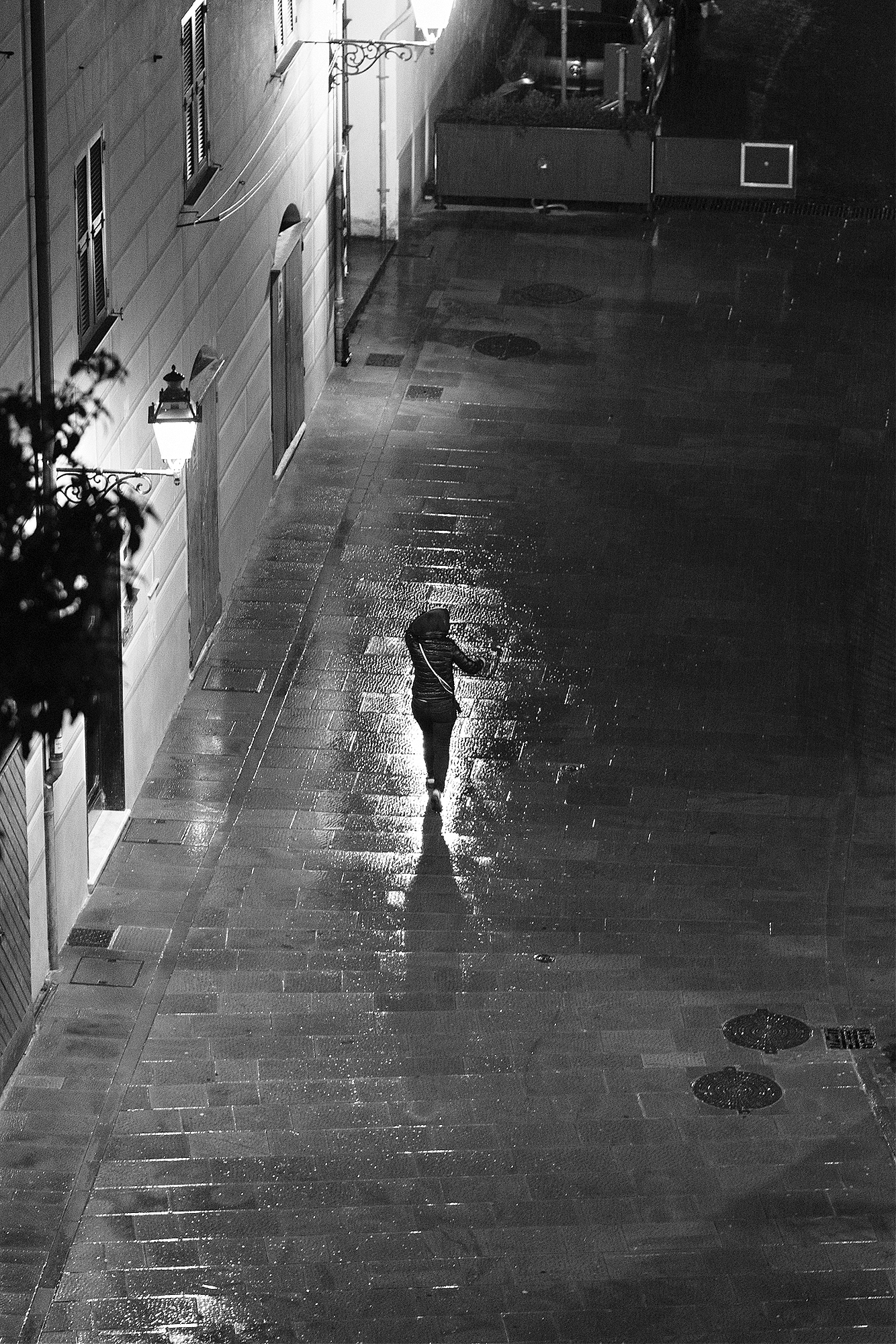 Caught in the rain, Camogli, Liguria