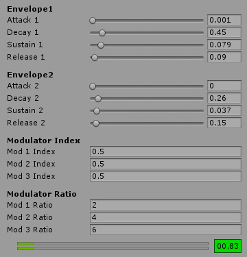 Interface for FM synthesizer in Unity