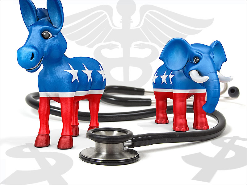 Thumbnail graphic created for political story on Medscape.com.