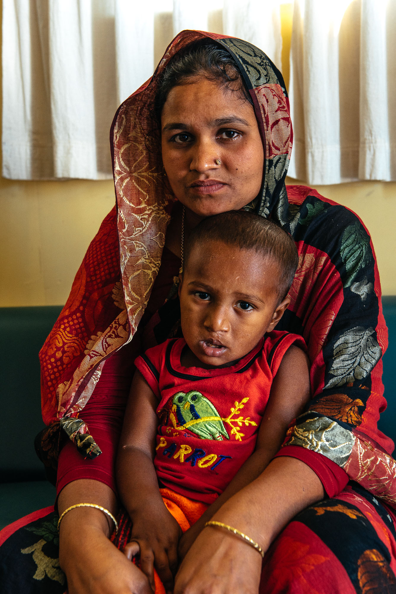 Mosammot Sufia Khtun et son fils de 3 ans, Tamin - Mosammot Sufia Khtun and her 3-year-old son, Tamin