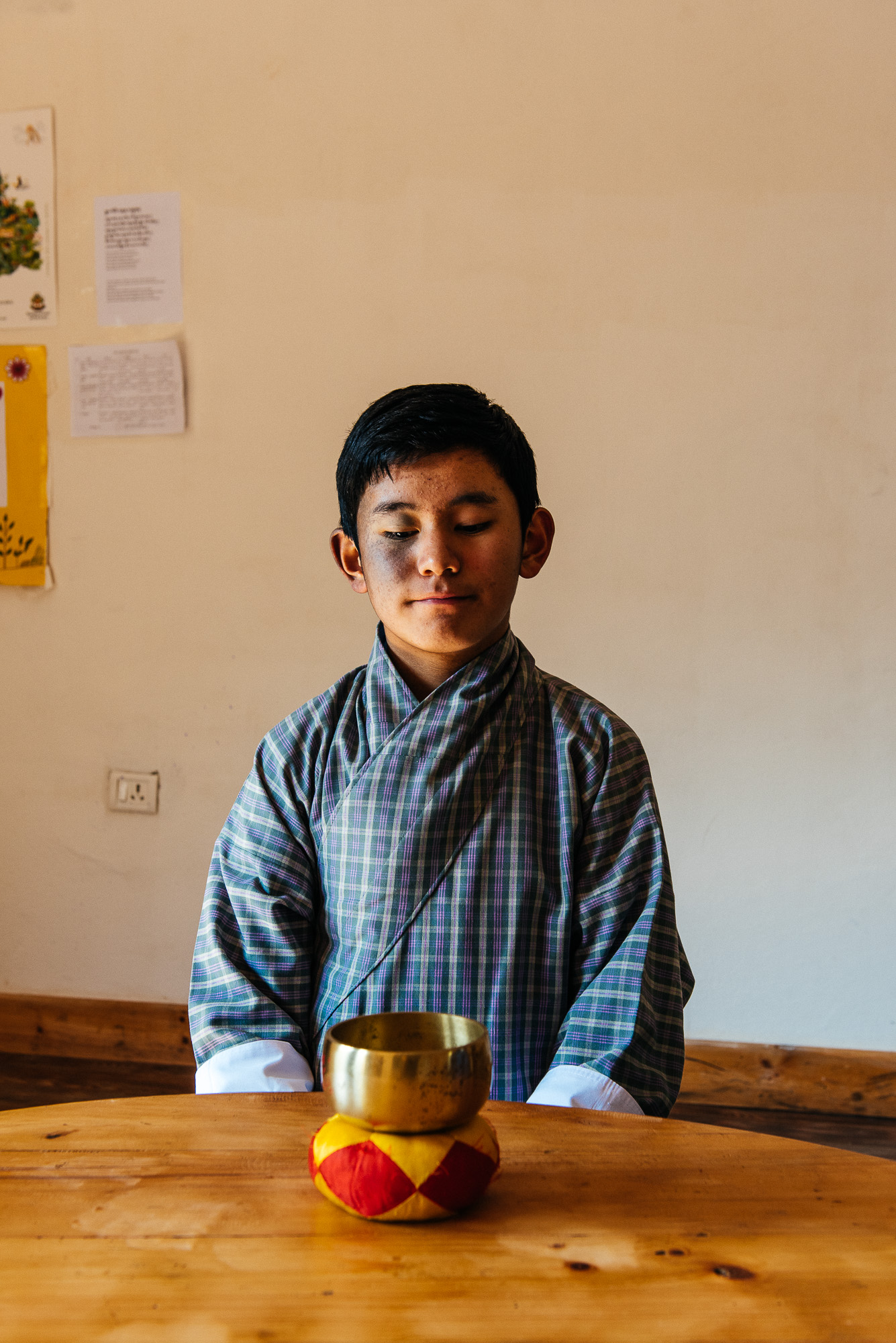 Sonam Tenzin, 13 years old, a student of Deki Choden