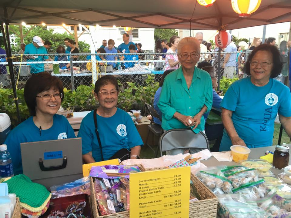 Our hard working ladies of our temple product booth.