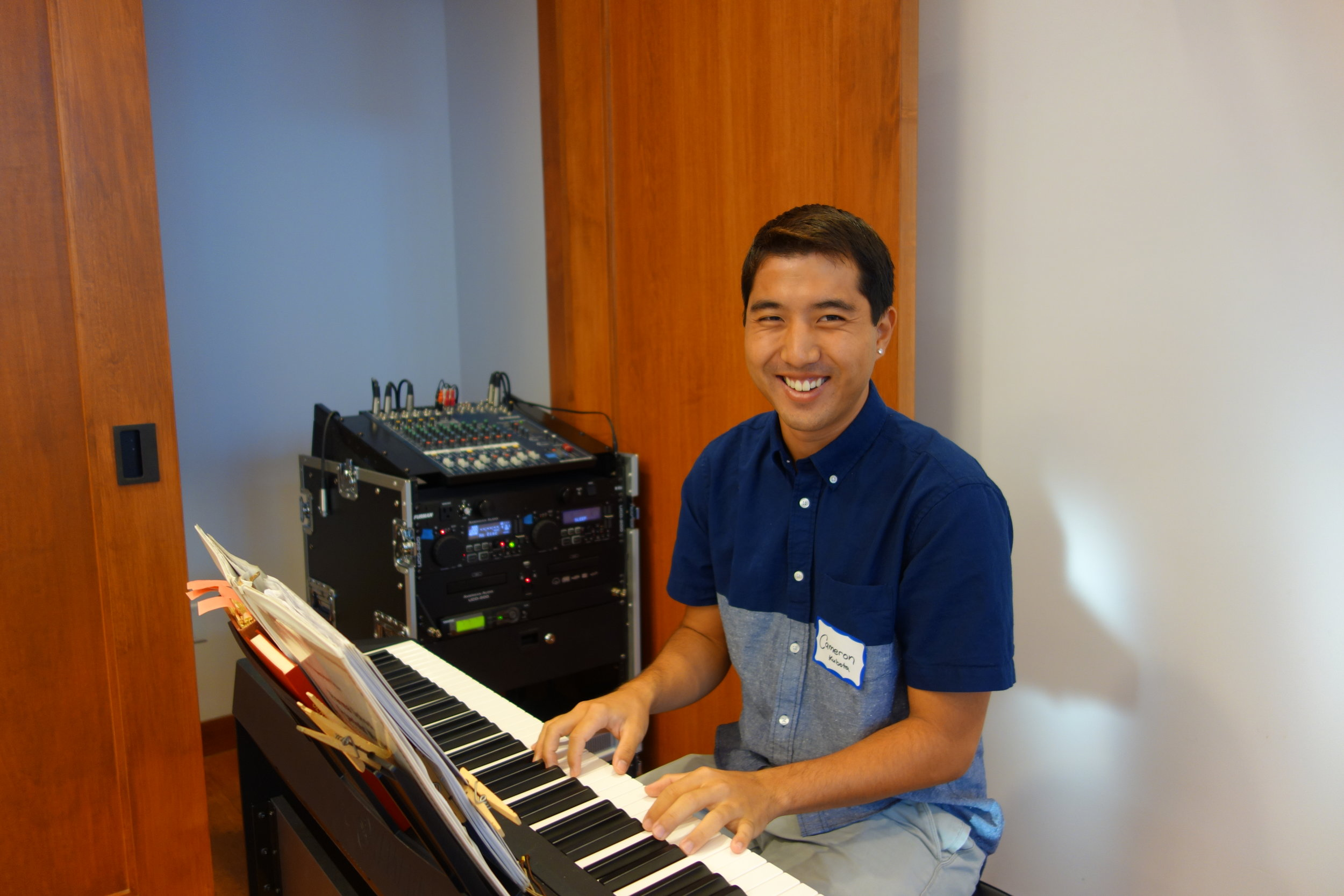 Mahalo to Cameron Kubota, our guest pianist
