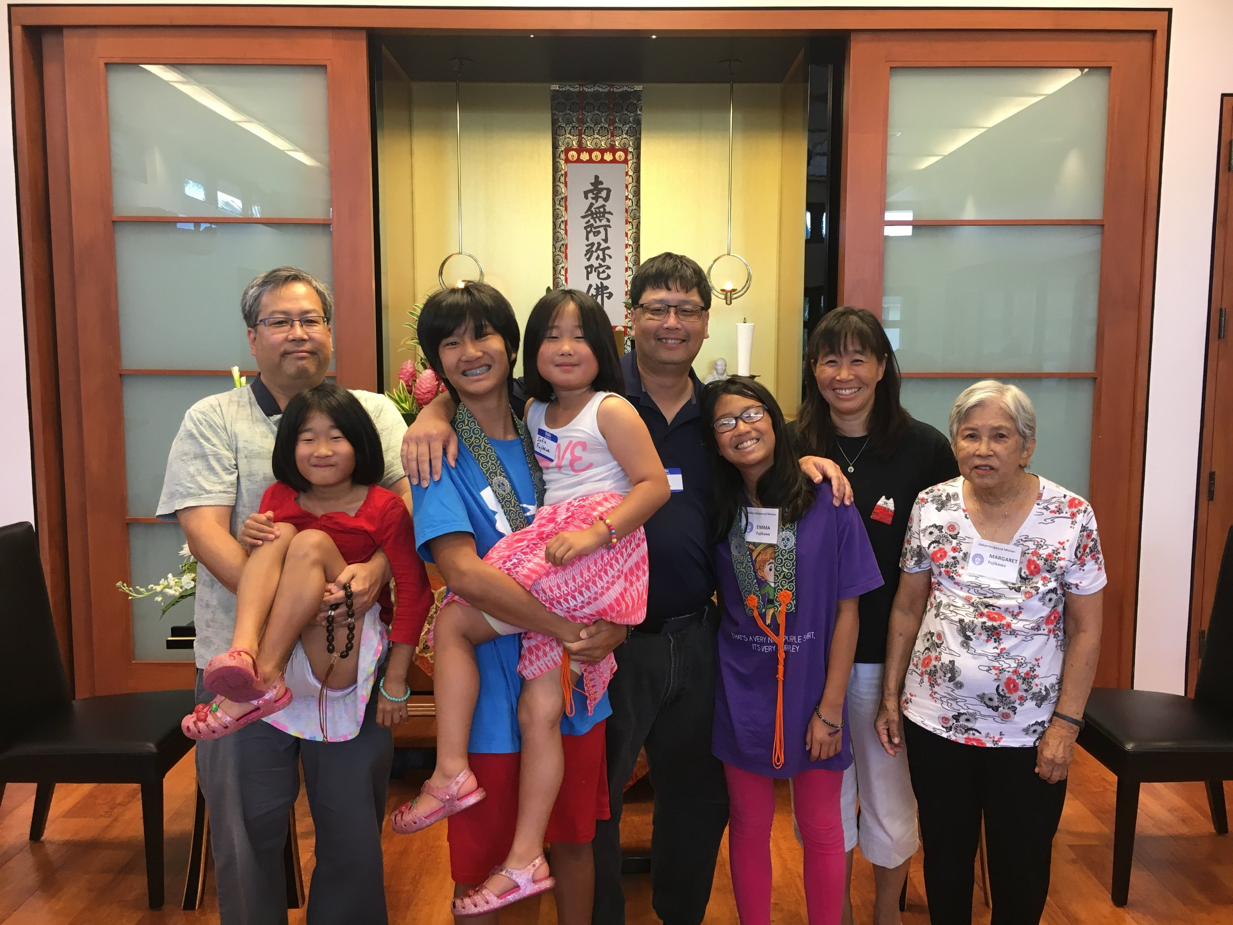Our visitors today included Reynold Fujikawa and his daughters, who are visiting from California, along with his brother Carl.