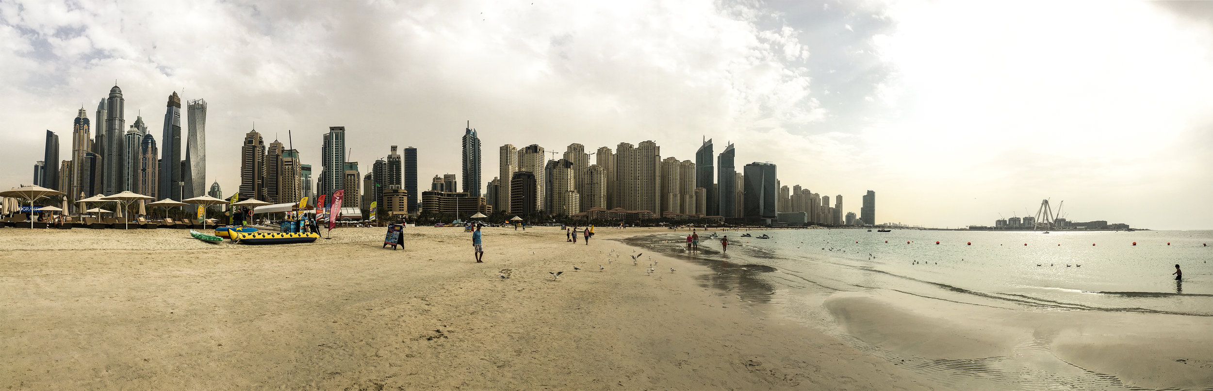 The Dubai cityscape