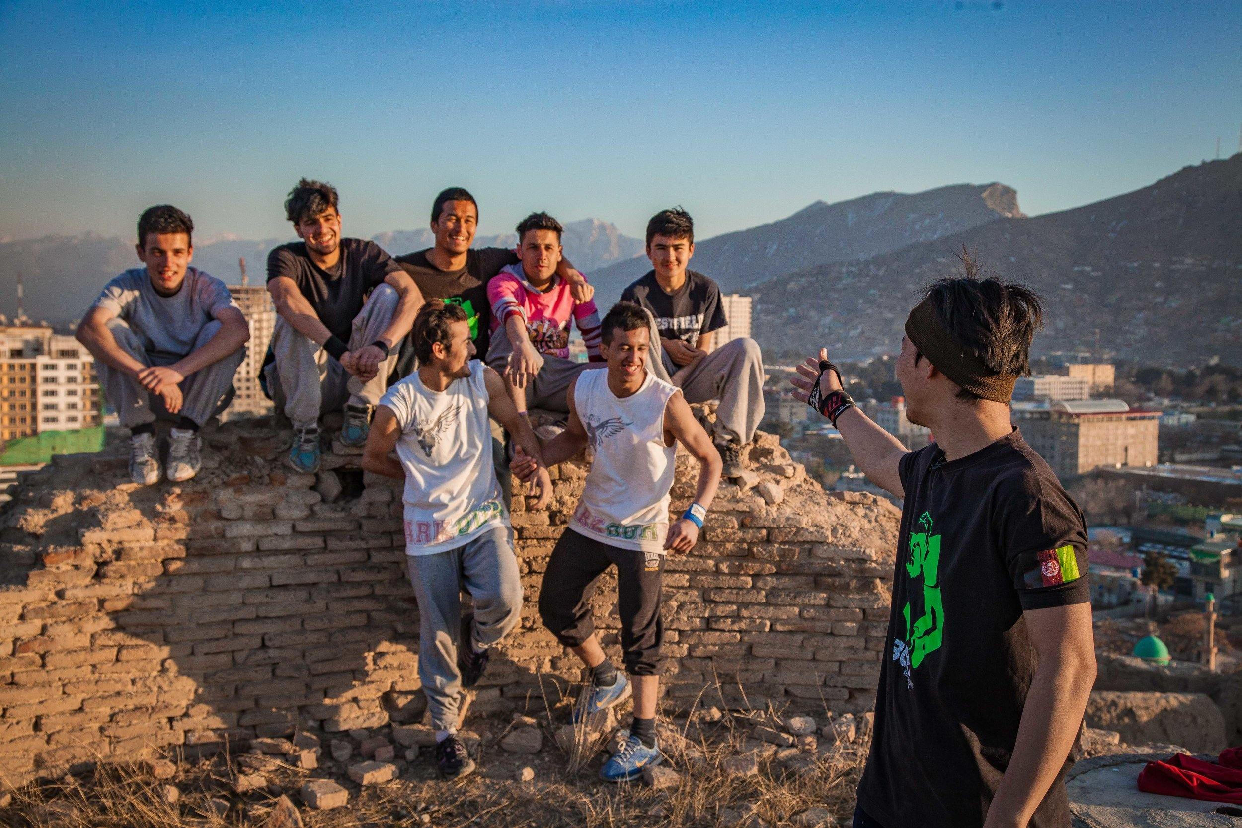 Jamil - leader of the 'Kabul Boys' Parkour team, hails his team as the driving force behind their recent success in achieving media coverage of their efforts.