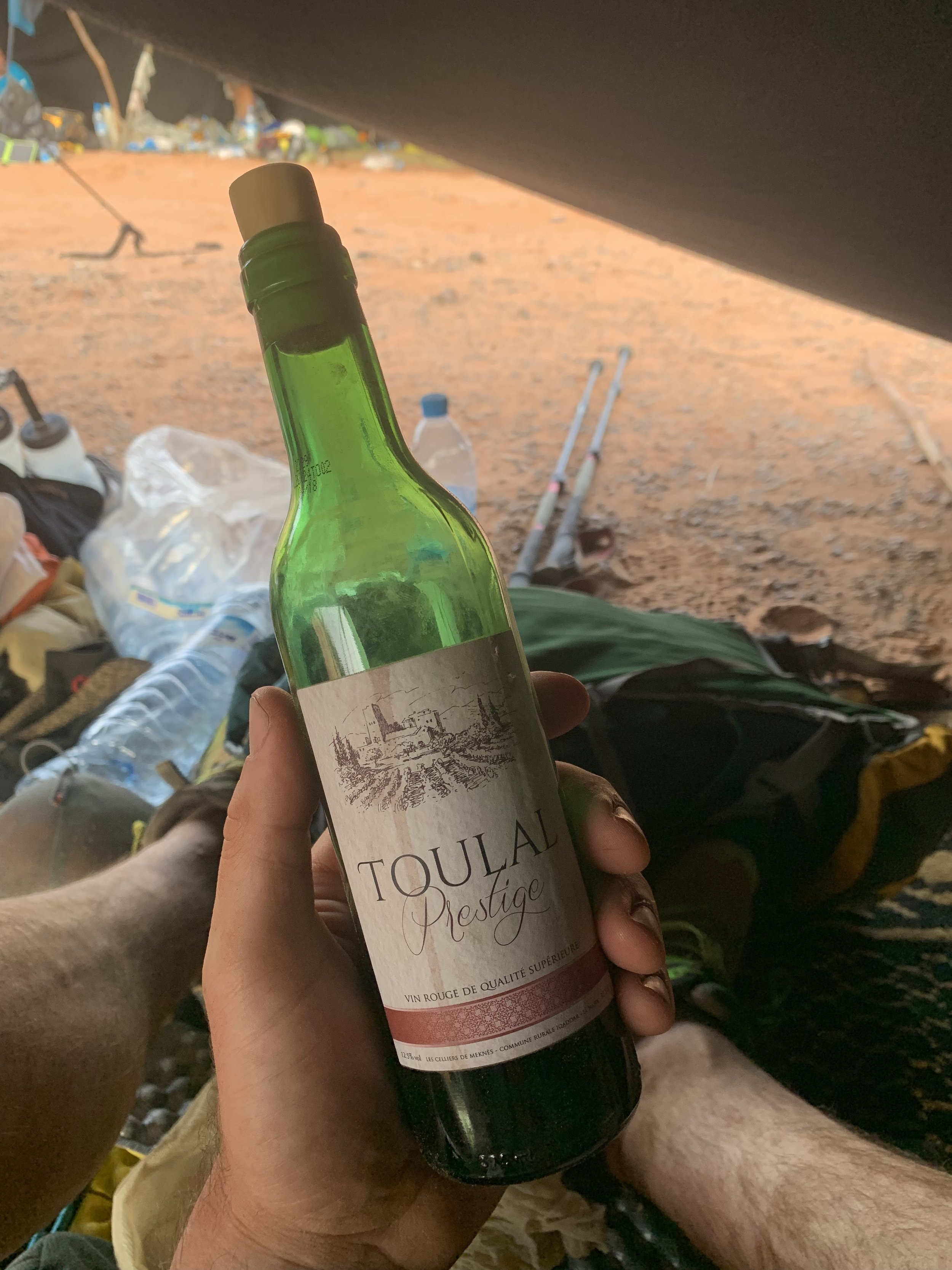 A nice half-bottle of red that came around the MDS with me as a two-fingers to the challenge.