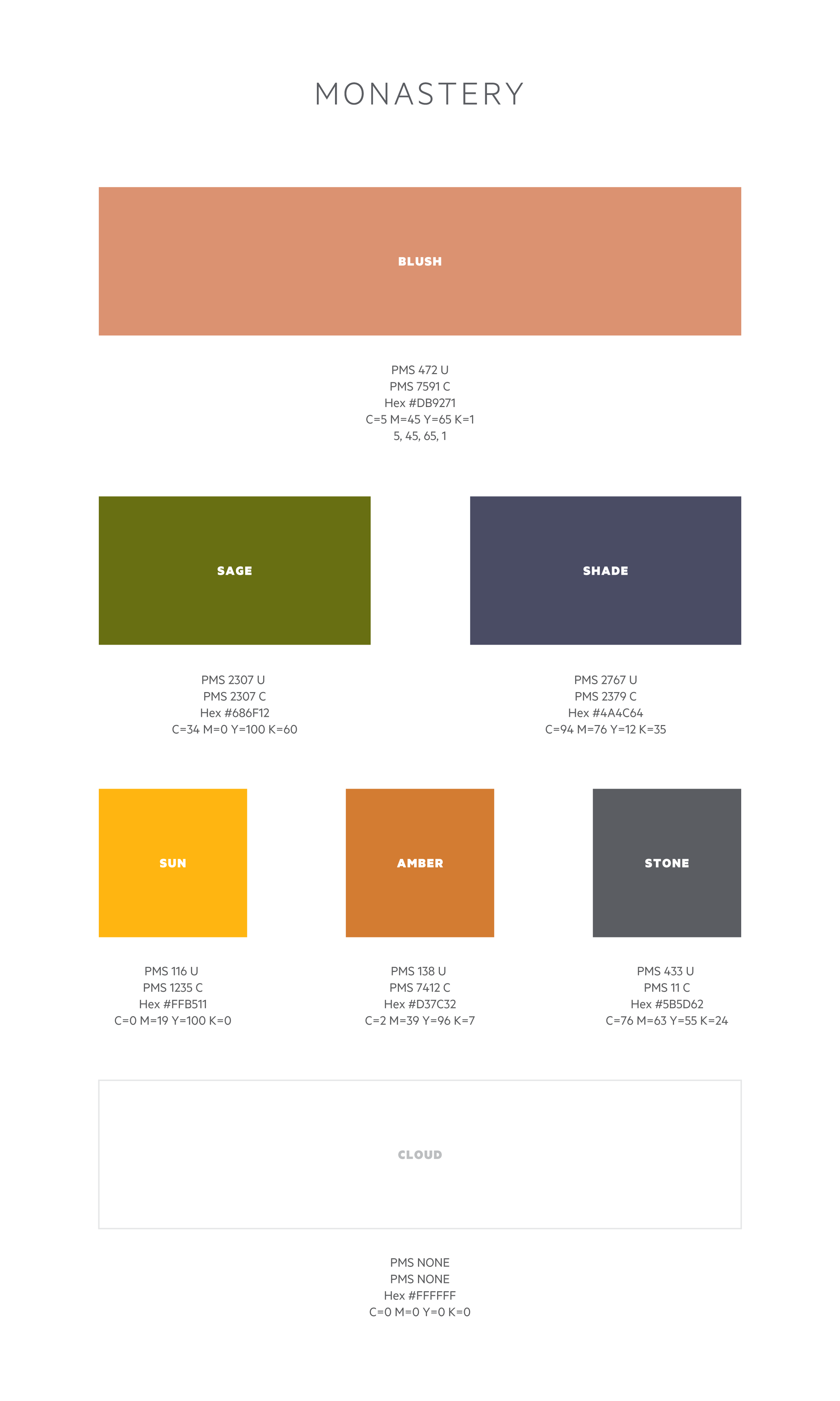 Final color palette and hierarchy