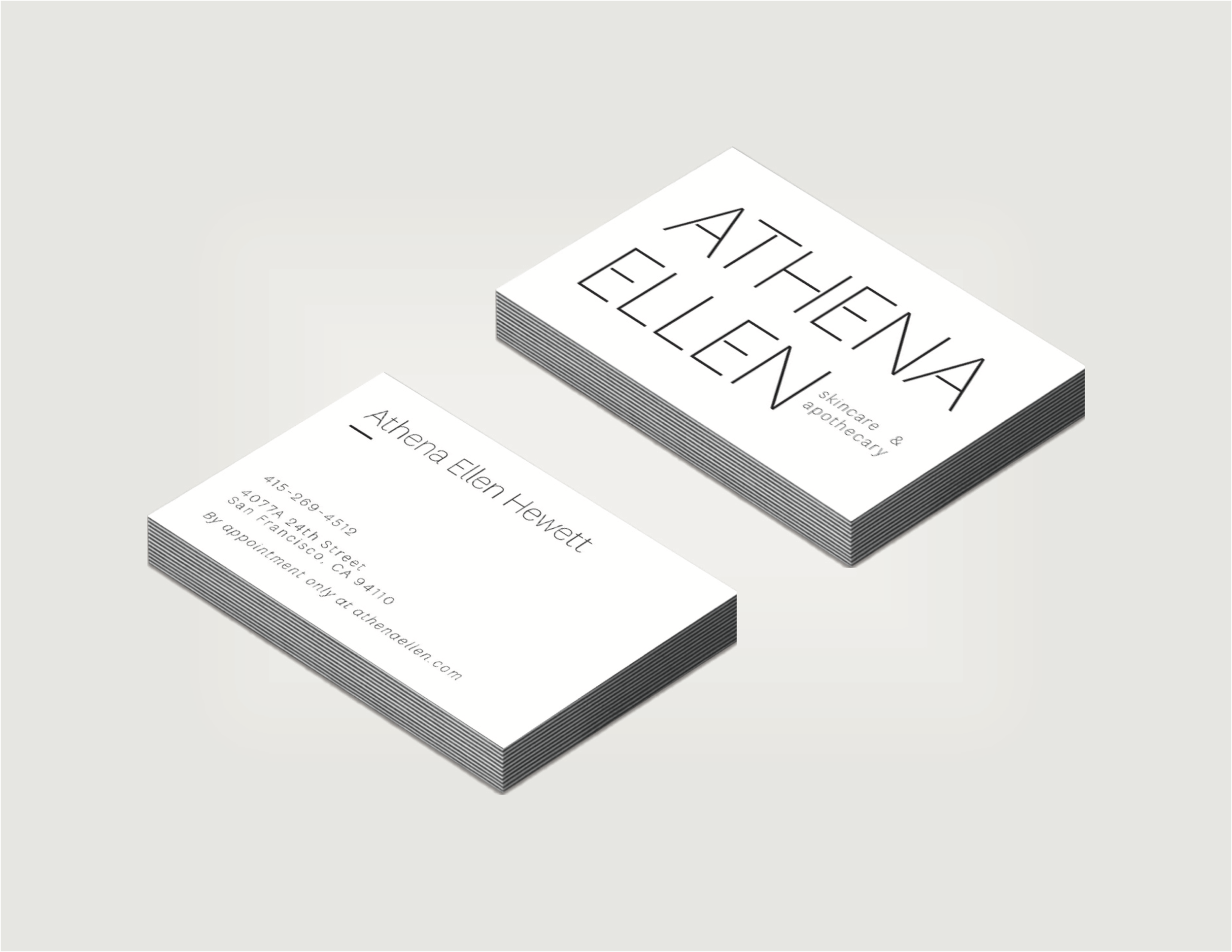 Business Cards with the new identity