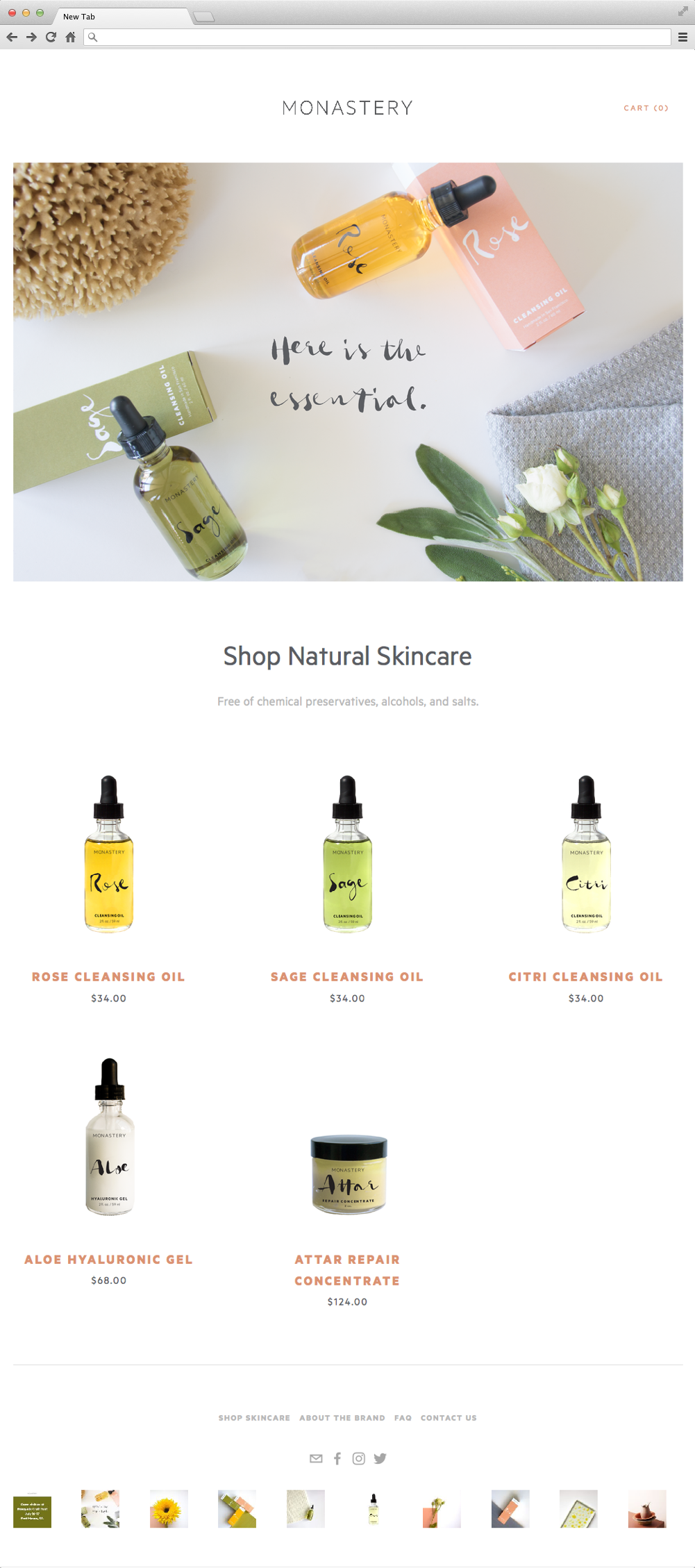Final homepage and webshop