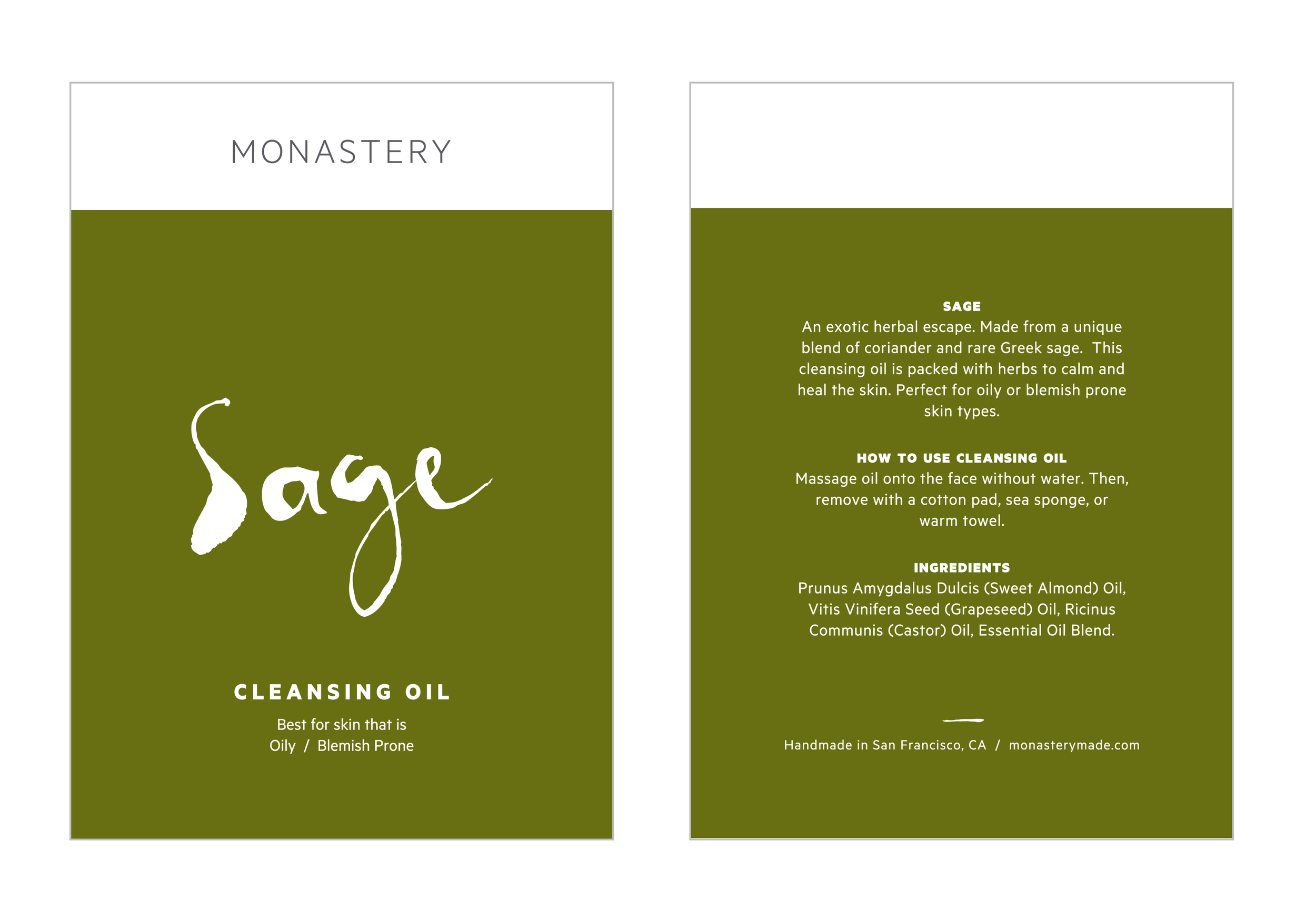 Postcard-sized product detail cards
