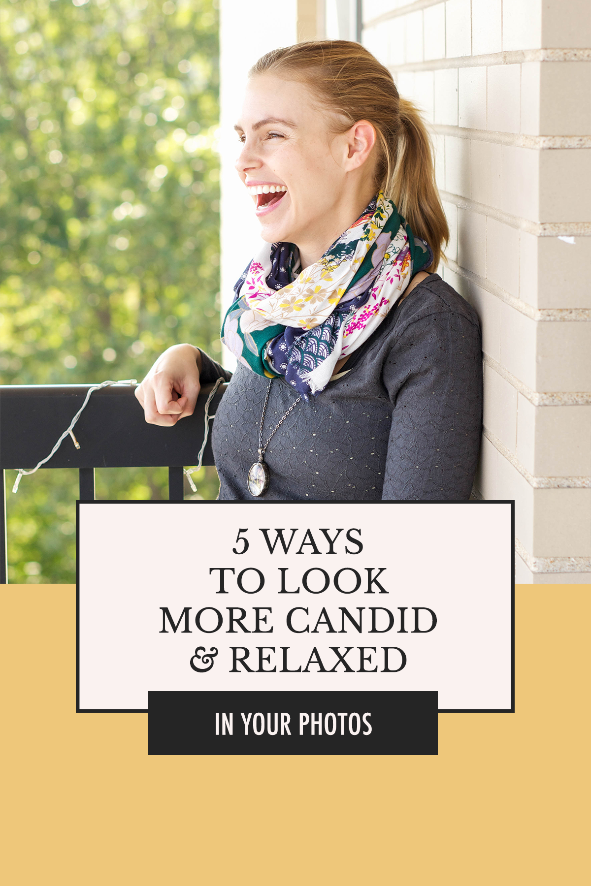 How do people look so happy and relaxed in their photos? Here are 5 tips for loosening up in front of the camera! | 5 Ways to Look More Candid & Relaxed in Photos | Alexis the Greek blog