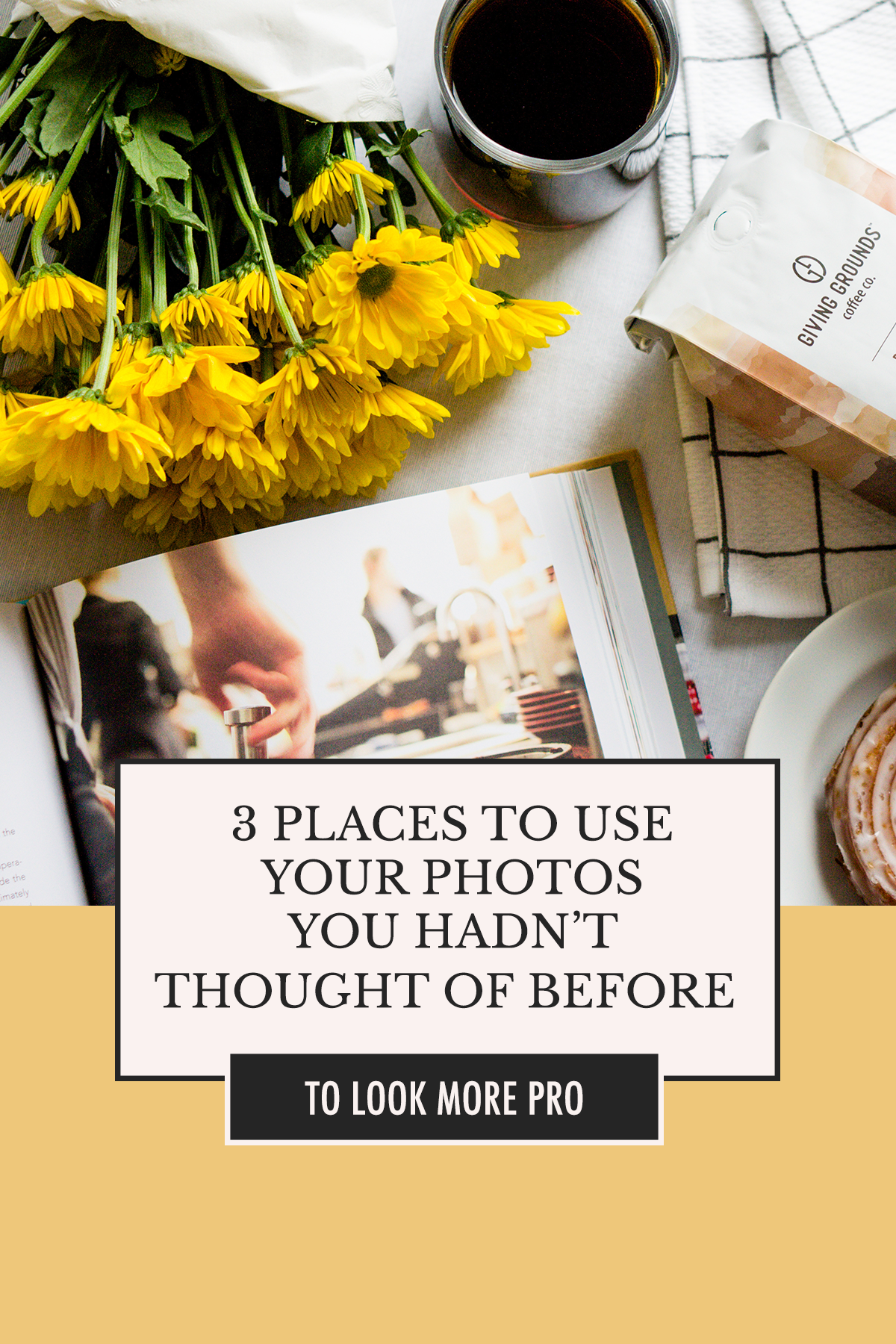 Photos are expensive and time-consuming, so they should bring us joy for more than one project. Here are 3 ideas for ways to get more mileage out of photos you already have! | Photo Ideas with Alexis The Greek